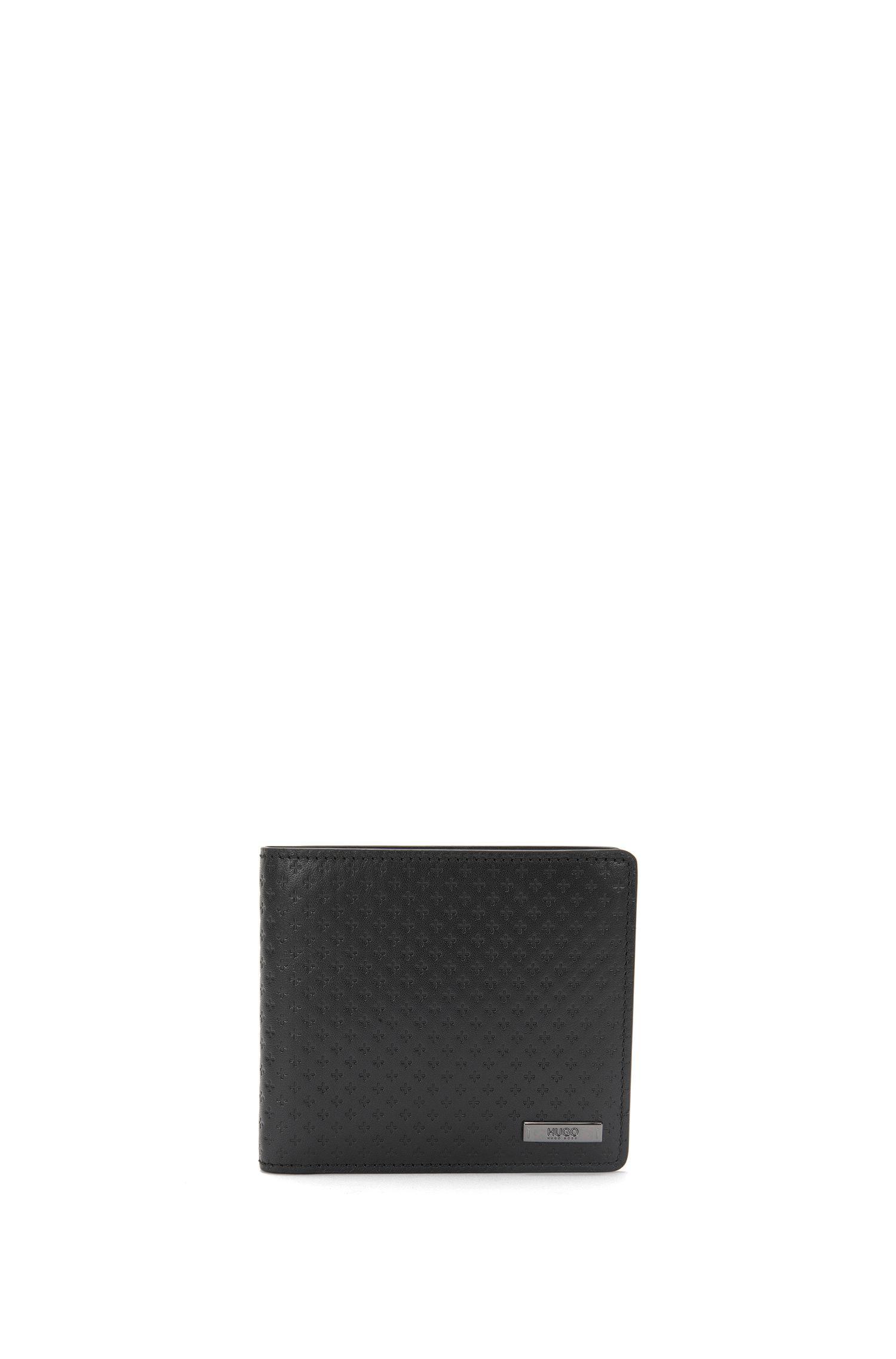 Set aus Geldbörse und Kartenetui aus geprägtem Leder: 'GbH17PS_44cc coin S c'