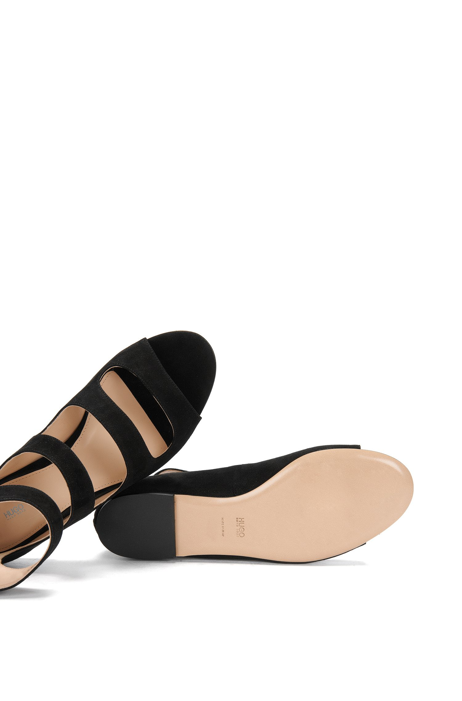 Sandalen aus Veloursleder: 'Dalia'