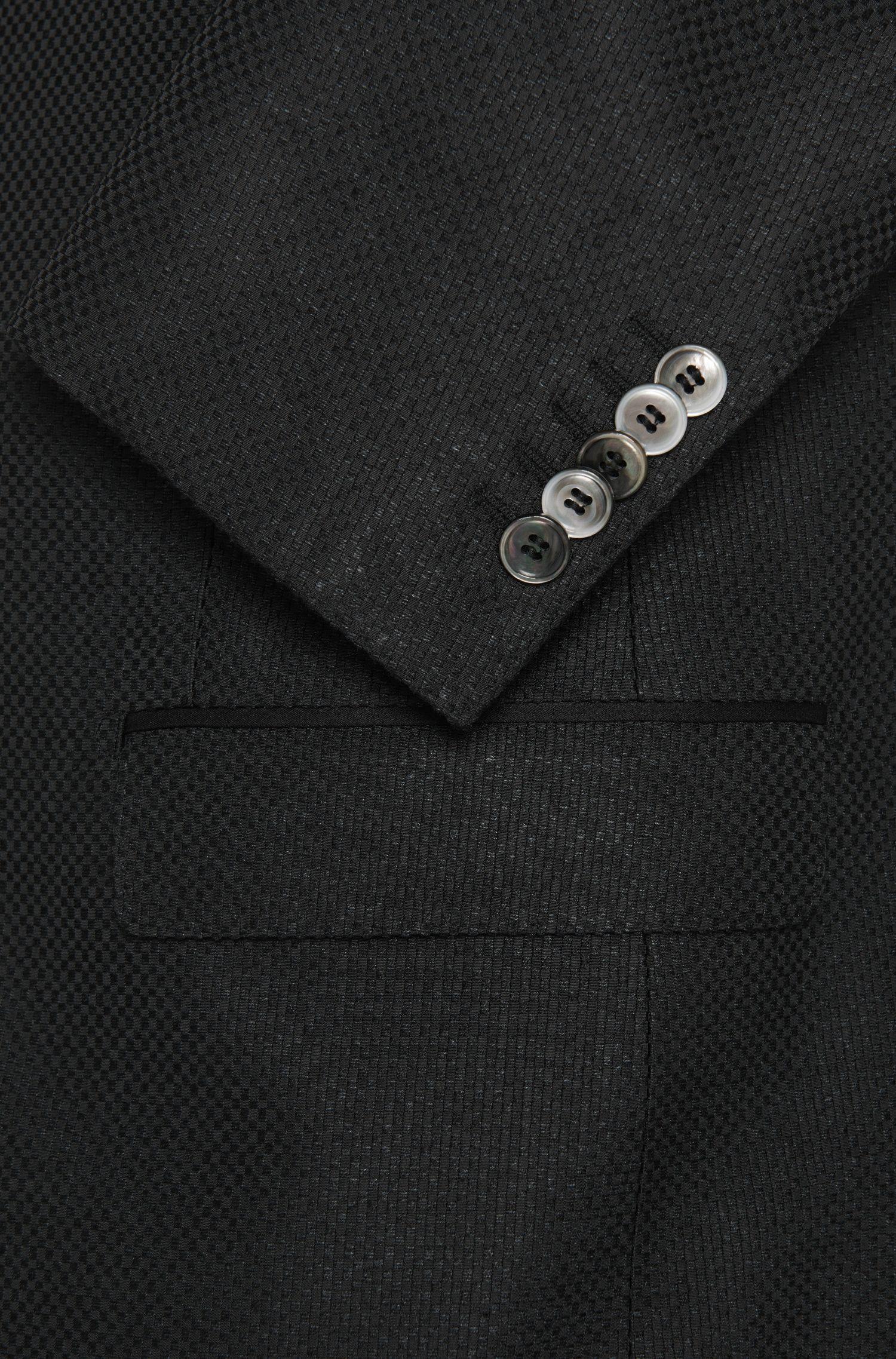 Slim-Fit Tailored Sakko aus Seiden-Mix mit Perlmuttknöpfen: 'T-Hancock'