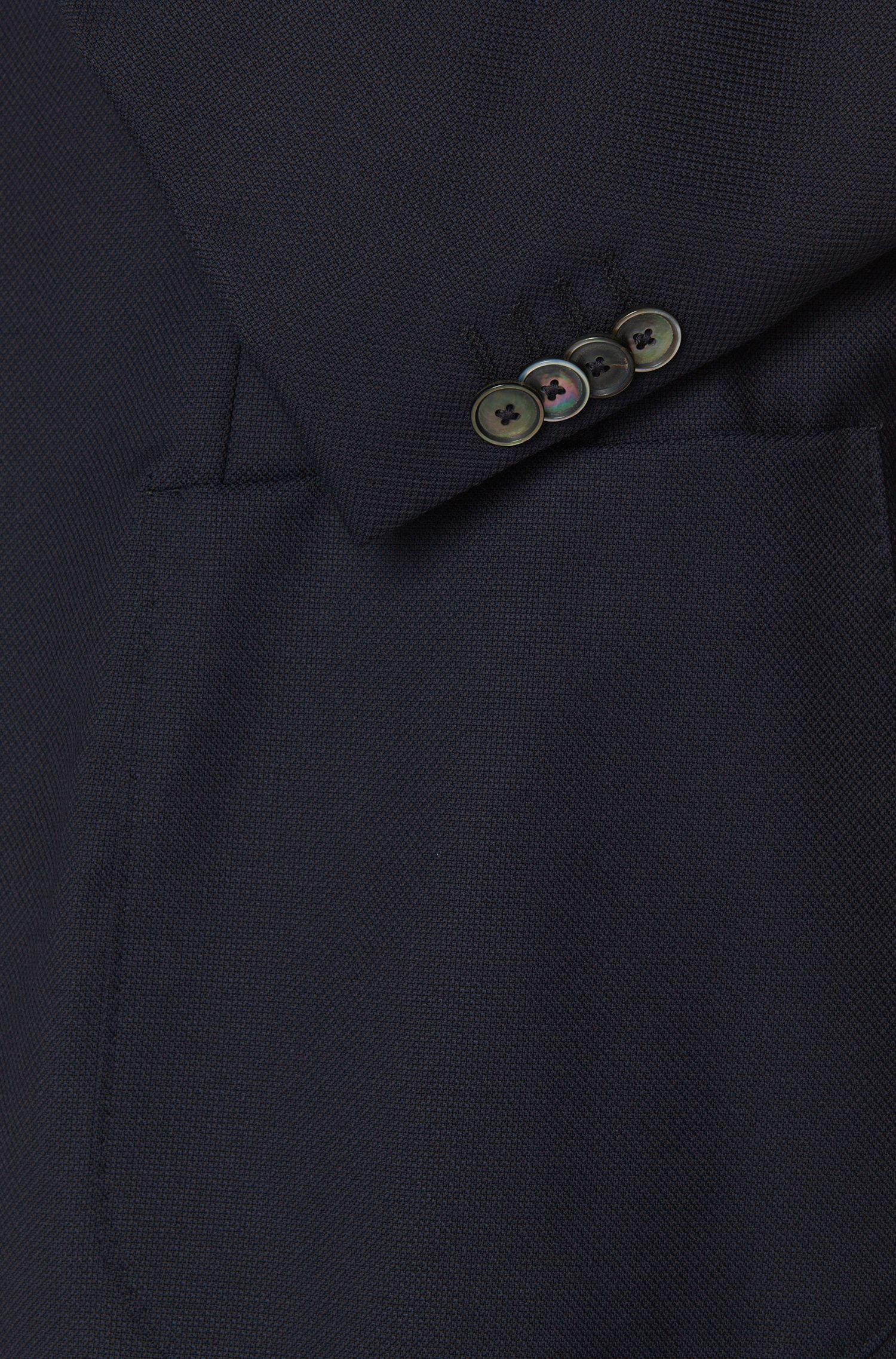 Veste de costume Slim Fit en laine vierge ornée d'une fine structure: «Nordan»