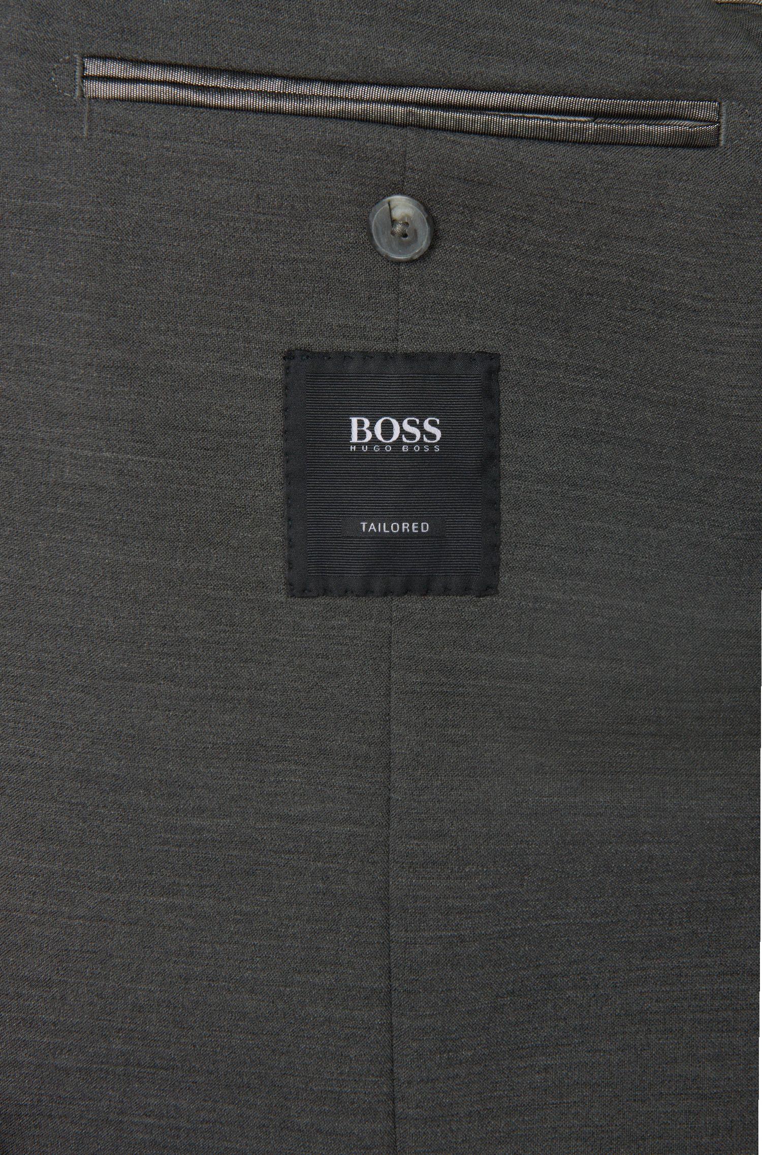 Veste de costume Slim Fit Tailored en laine vierge mélangée à teneur en modal, dotée de poches plaquées: «T-Nemax»