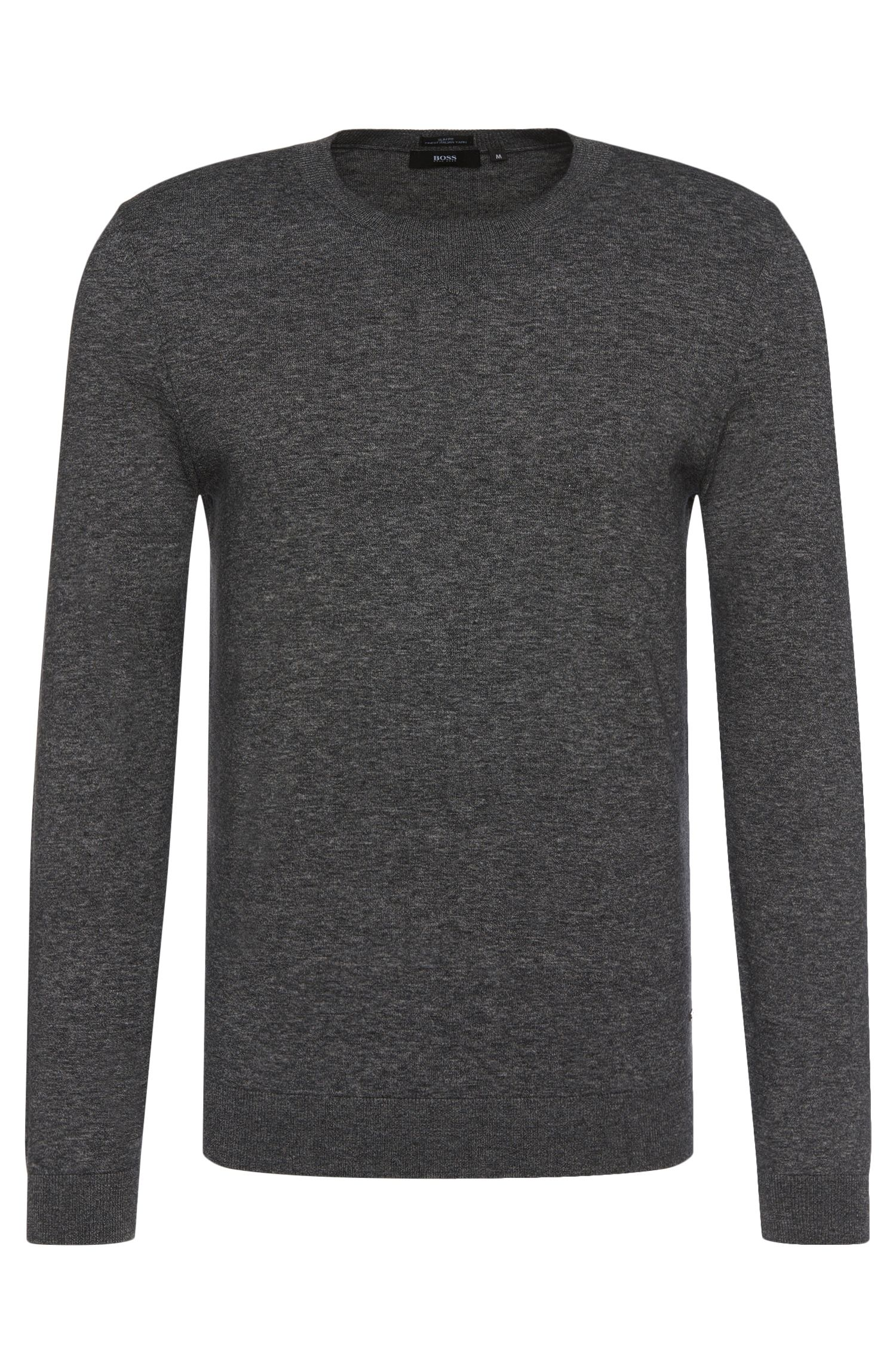 Mottled slim-fit sweater in cotton: 'Ives'