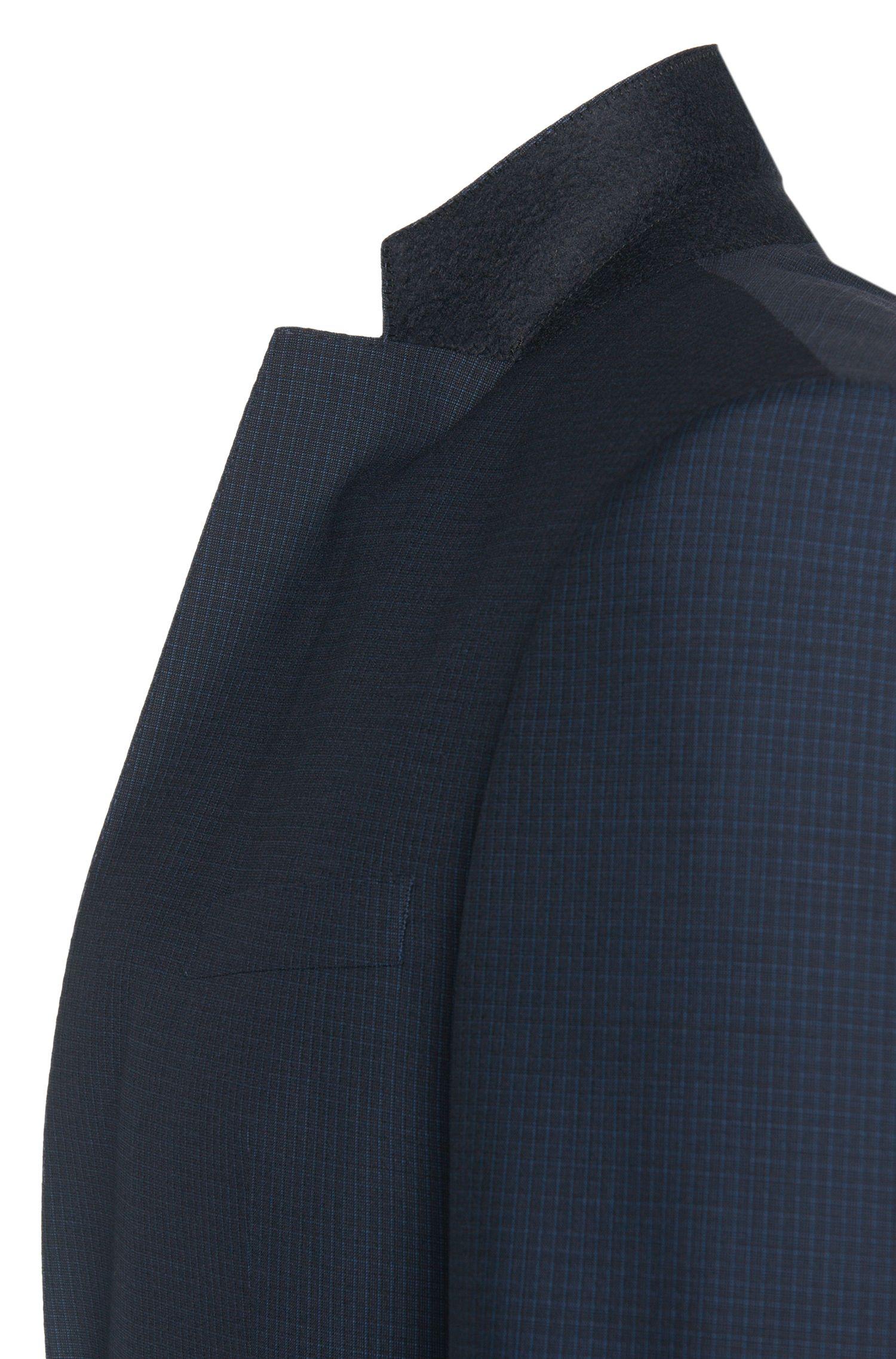 Costume Slim Fit en laine vierge au discret motif à carreaux: «Hamsen/Glenn WE»