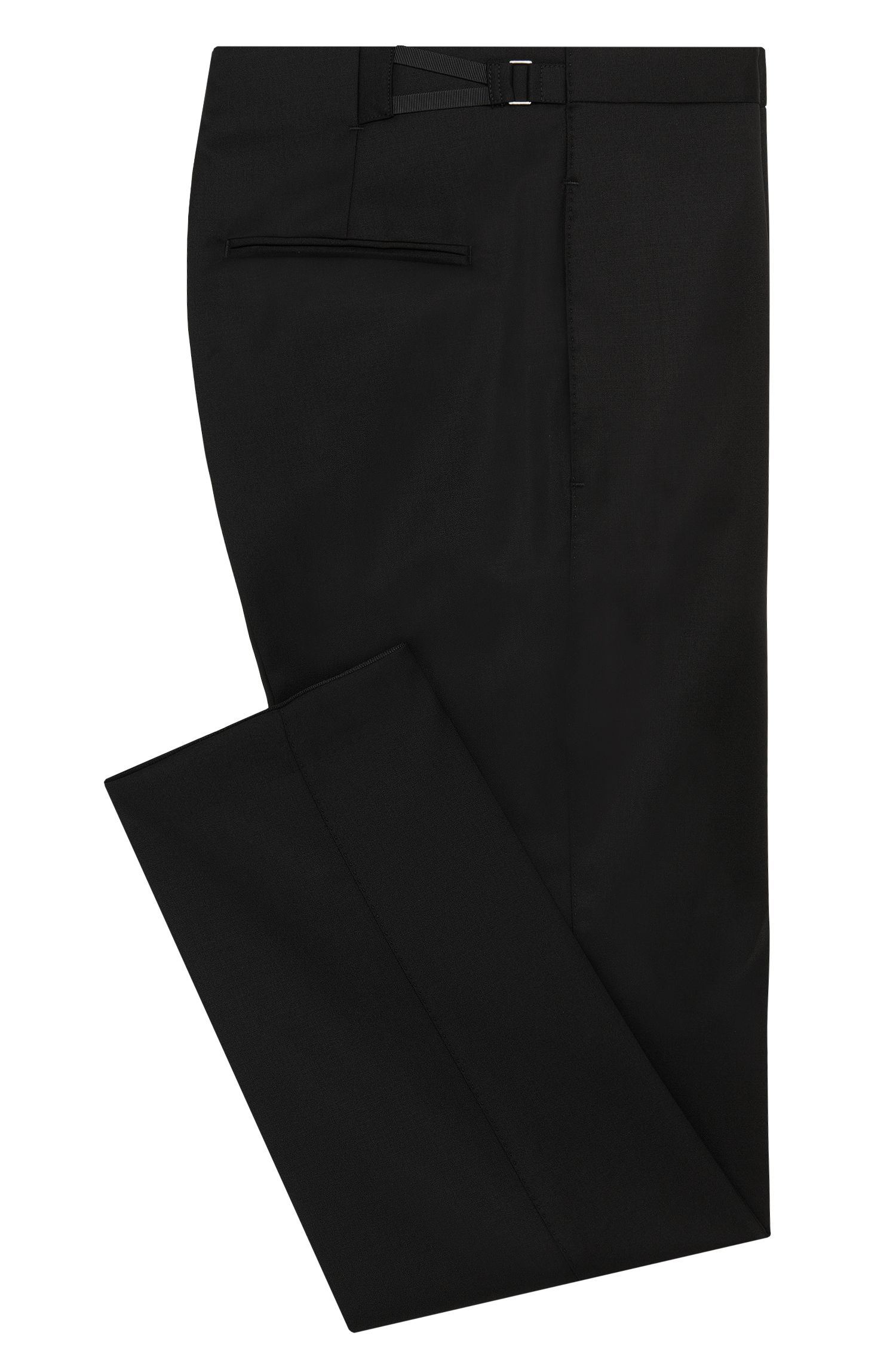 Pantalon Slim Fit en laine vierge pourvu de bandes décoratives : « Godwin »