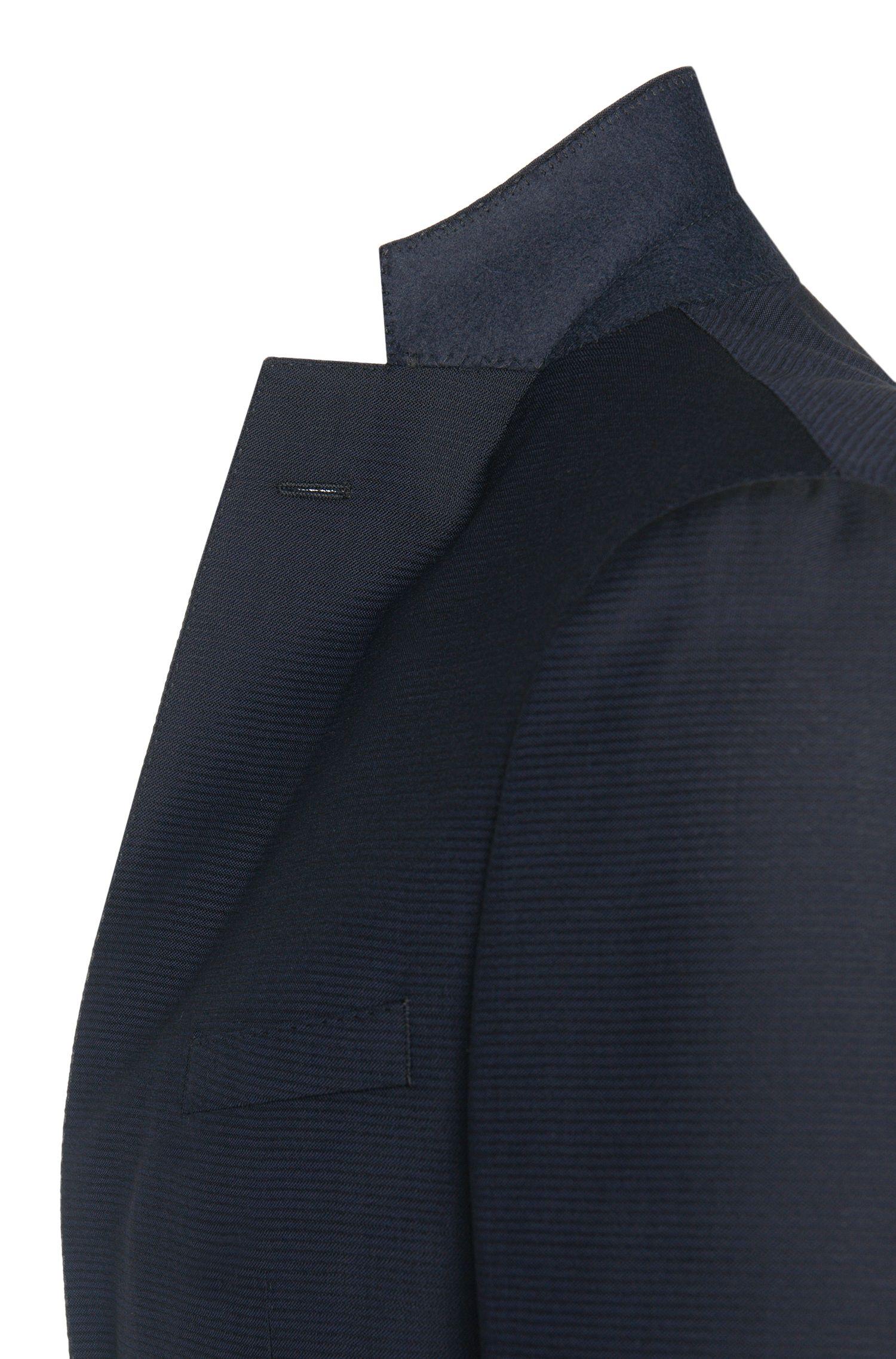 Costume Extra Slim Fit en laine vierge, au motif structuré: «Reyno2/Wave1»
