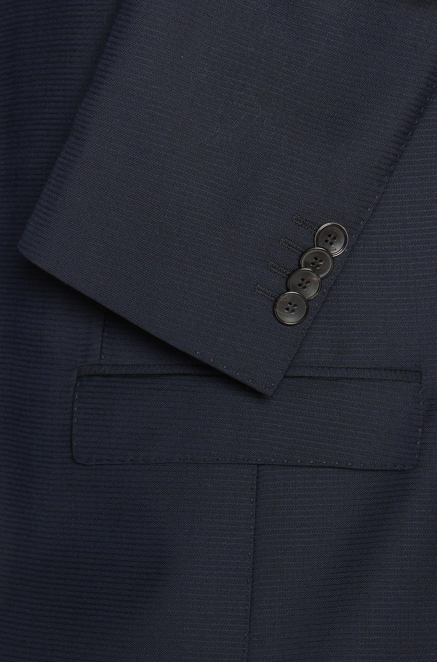 Extra Slim-Fit Anzug aus Schurwolle mit Struktur-Muster: 'Reyno2/Wave1'