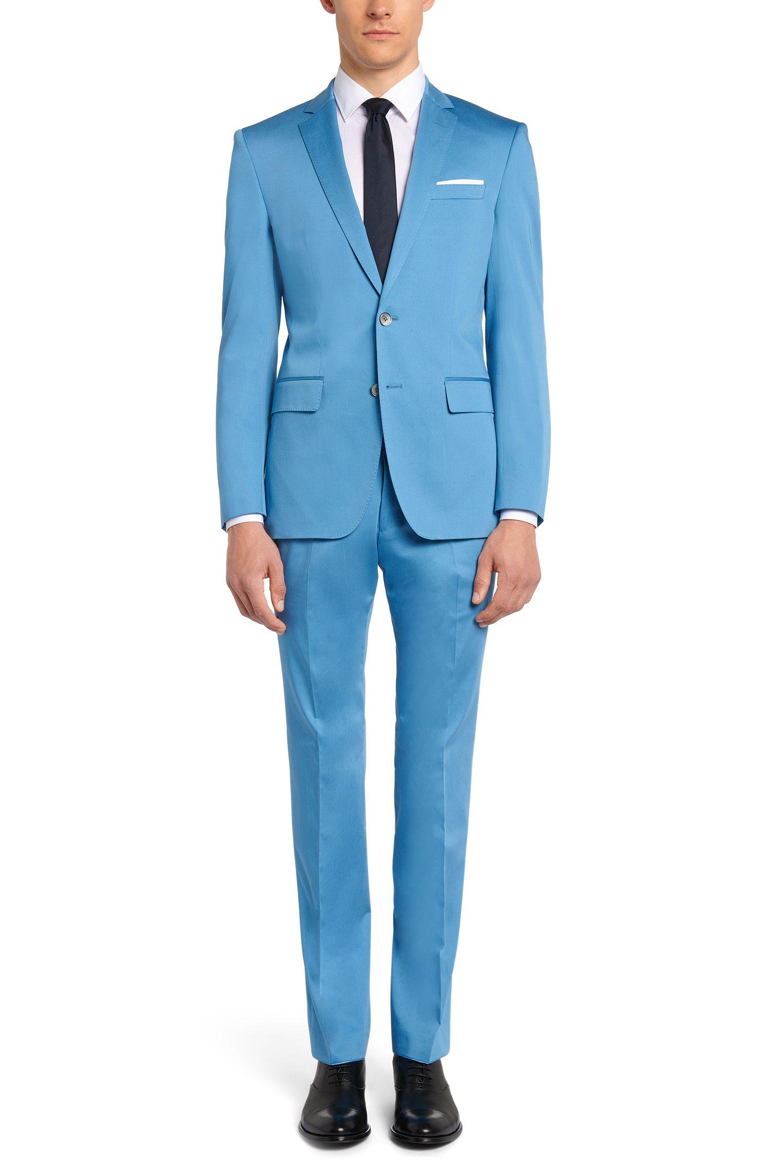 Costume Slim Fit en coton extensible, avec pochette: «Hutson4/Gander1»