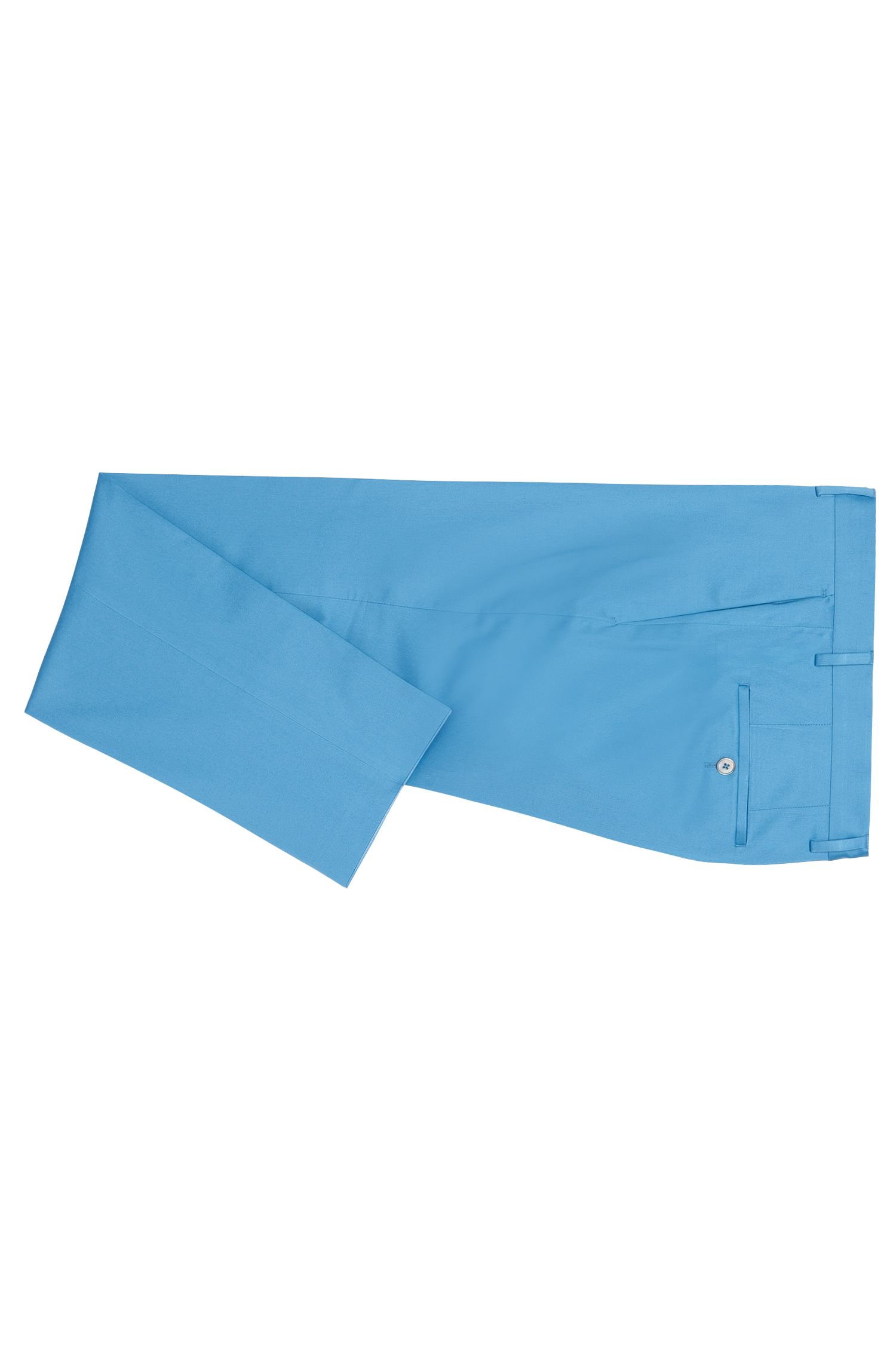 Slim-fit kostuum van stretchkatoen met pochet: 'Hutson4/Gander1'