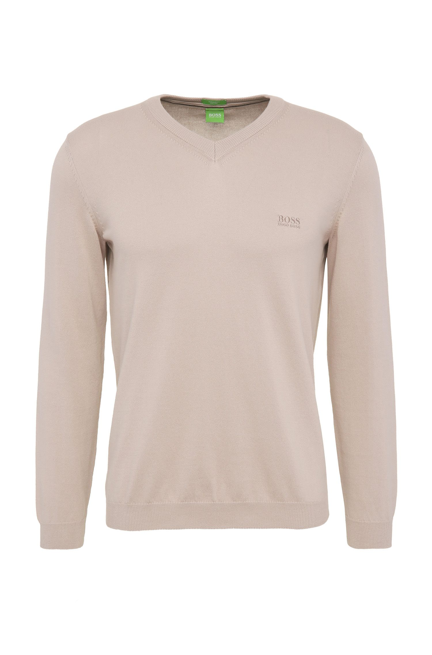 Regular-fit sweater in knitted cotton: 'C-Carlton_02'