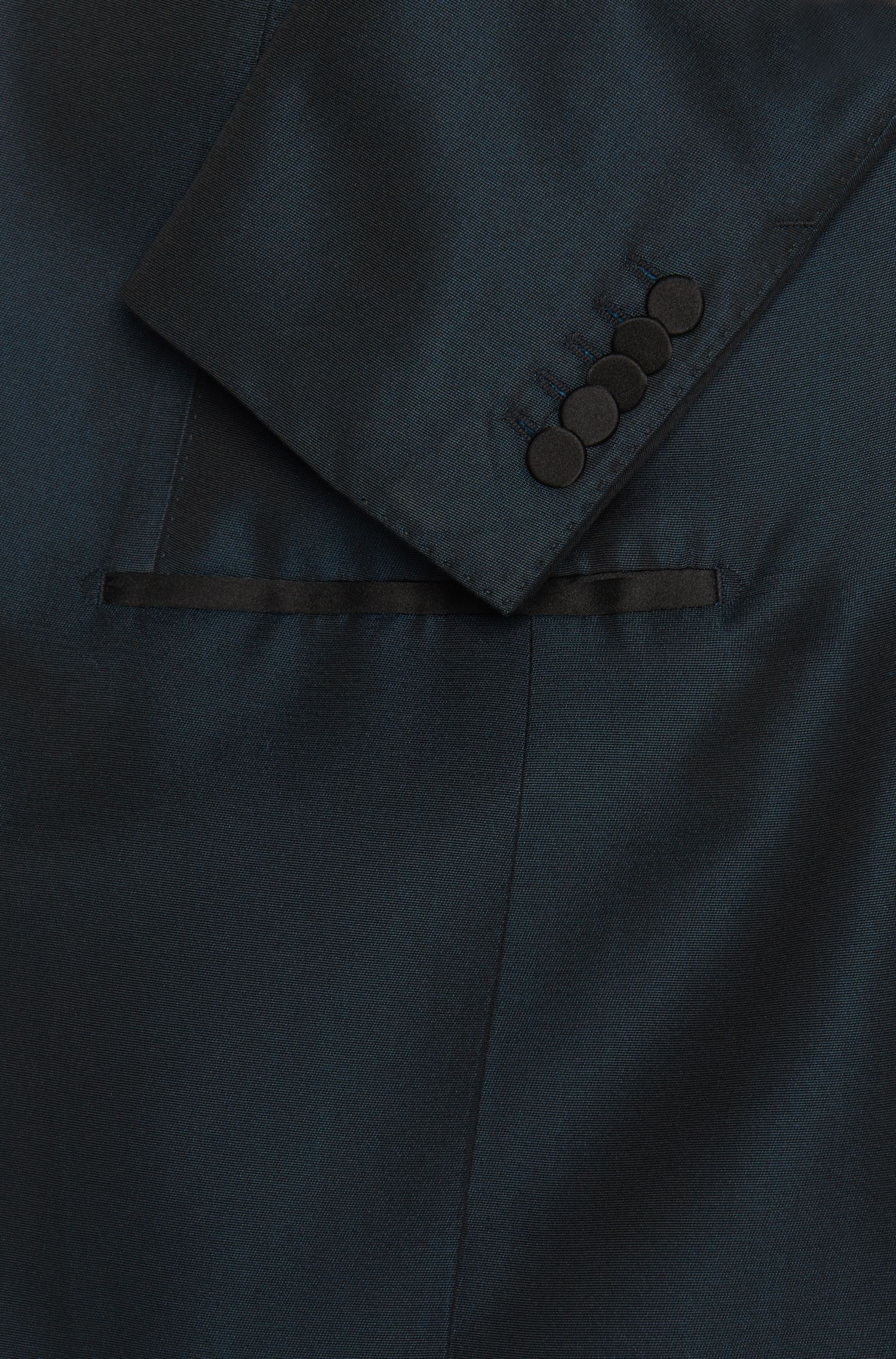 Slim-Fit Tailored Anzug aus reiner Seide mit Smoking-Details: 'T-Hampton/Glad'