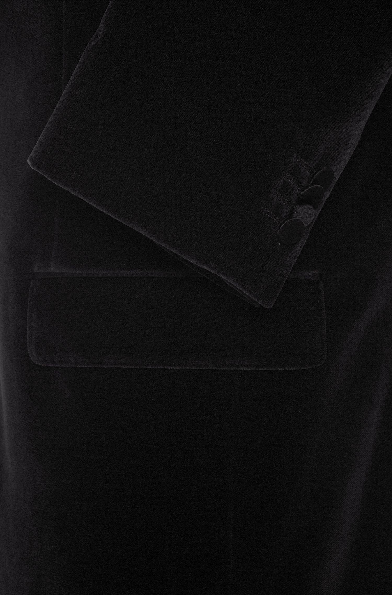 Regular-Fit Sakko aus Baumwolle mit Seiden-Details: 'Havit'