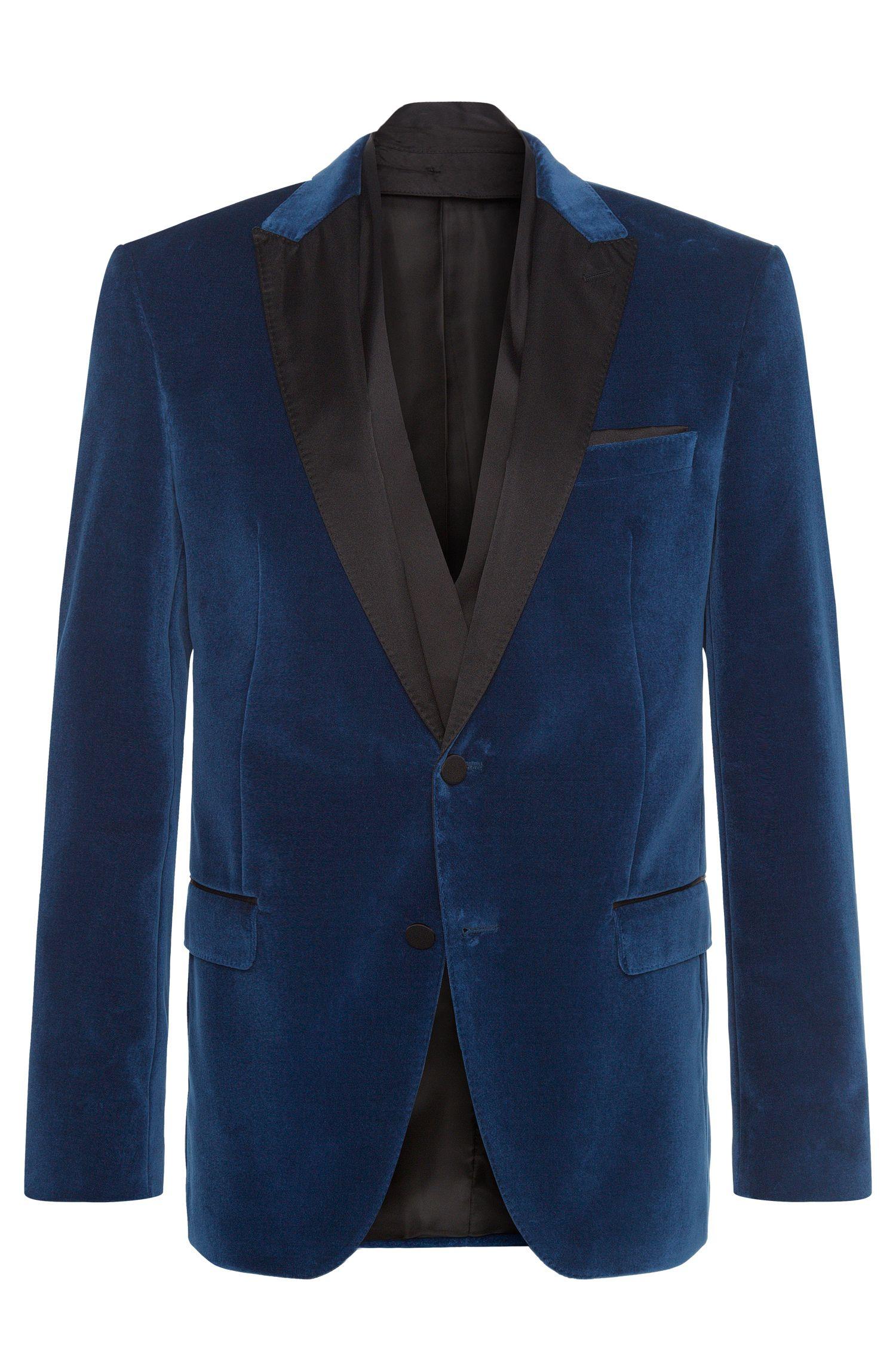 Regular-fit cotton jacket with silkdetailing: 'Havit'