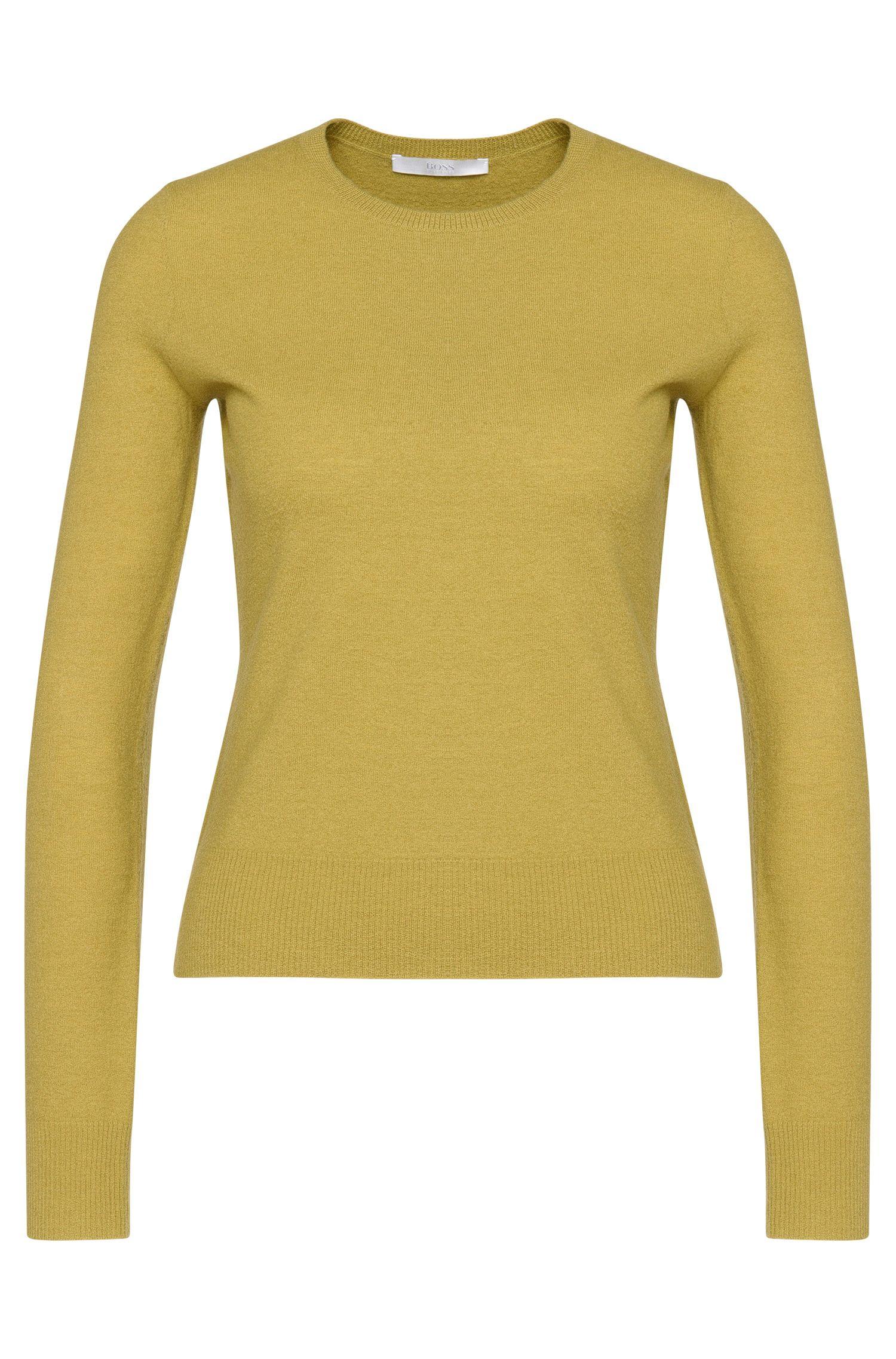 Effen trui van scheerwol: 'Fausta'
