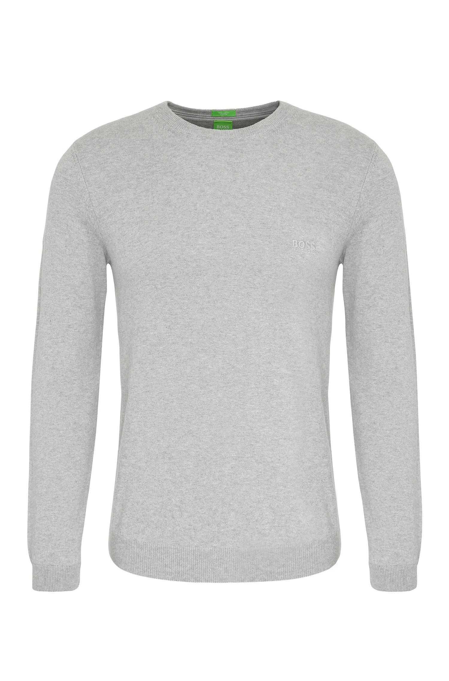 Regular-fit sweater in cotton: 'C-Caspar_02'