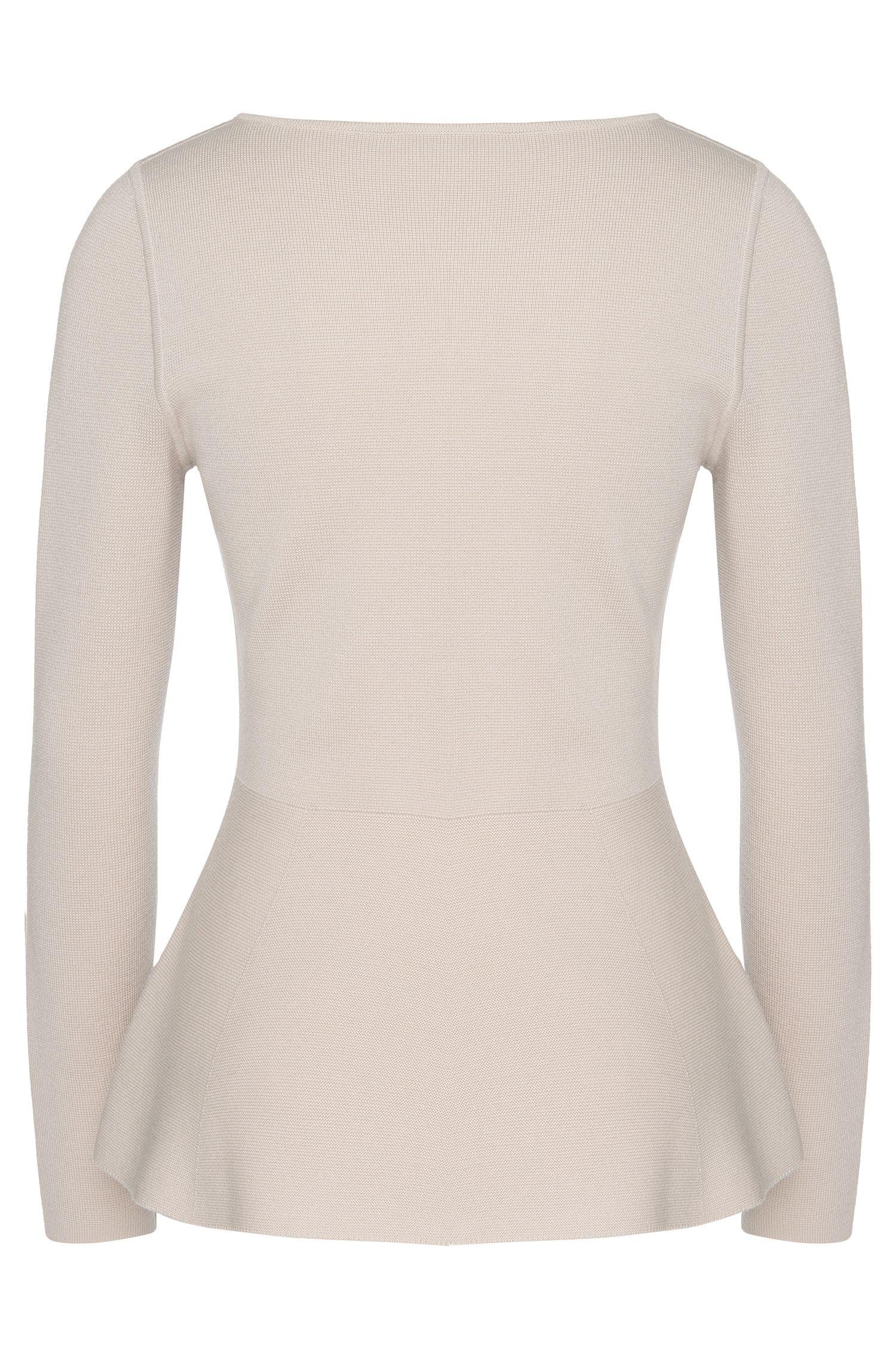 Pullover aus Schurwolle mit Schößchen-Detail: 'Finola'