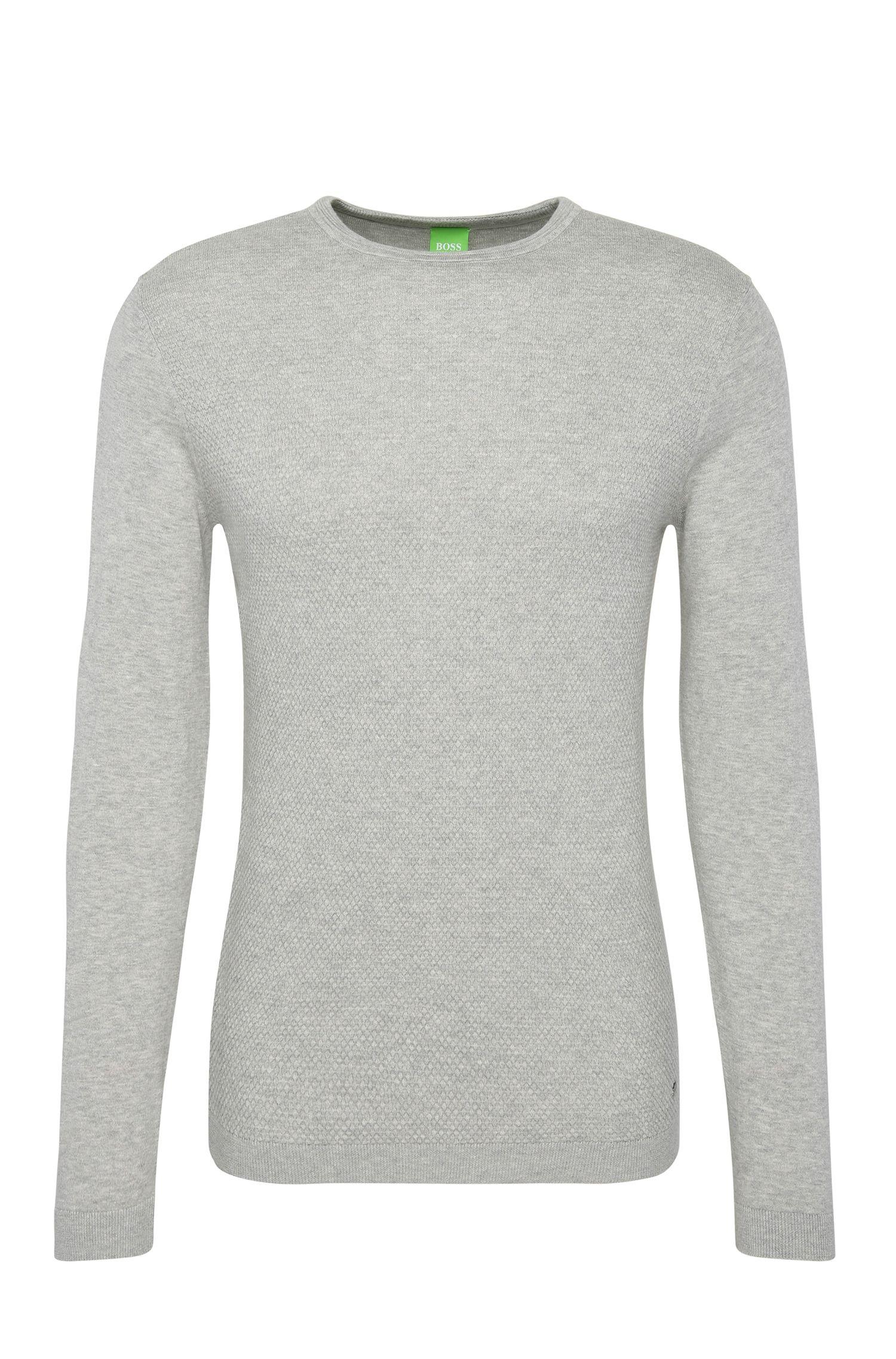 Gebreide regular-fit trui van katoen met wol: 'Ritt'