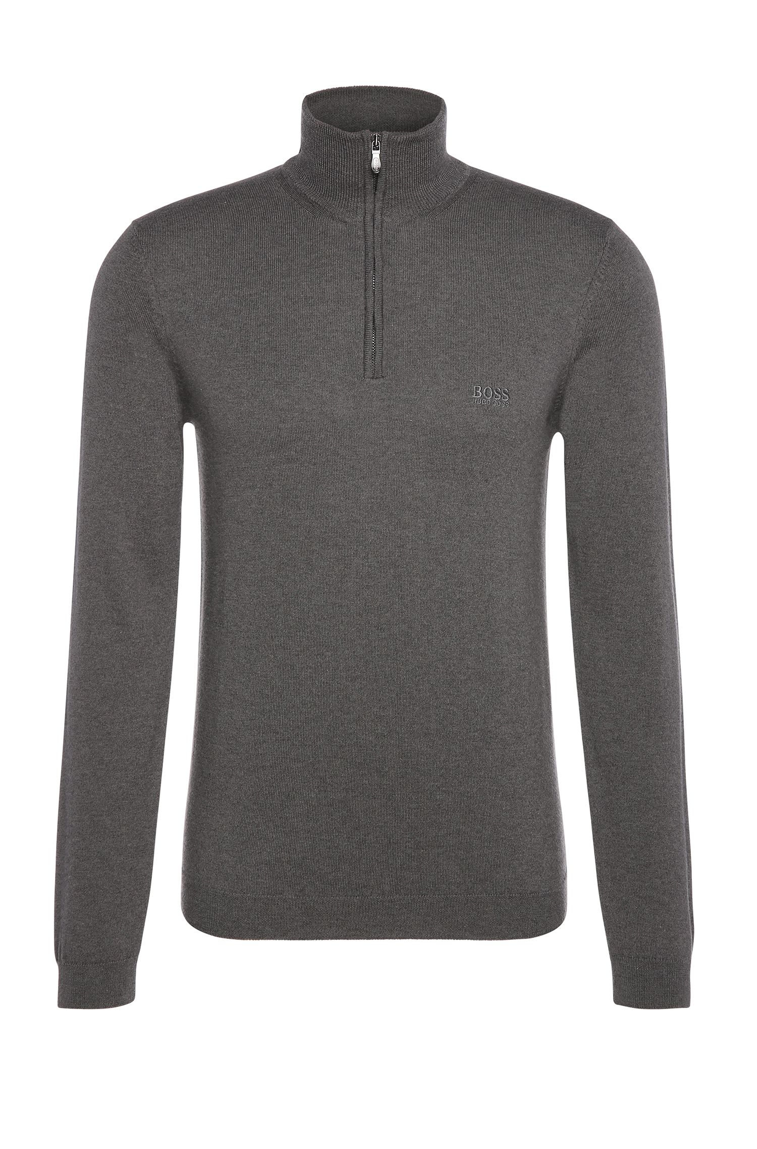 Maglione a collo alto in misto lana vergine con cotone: