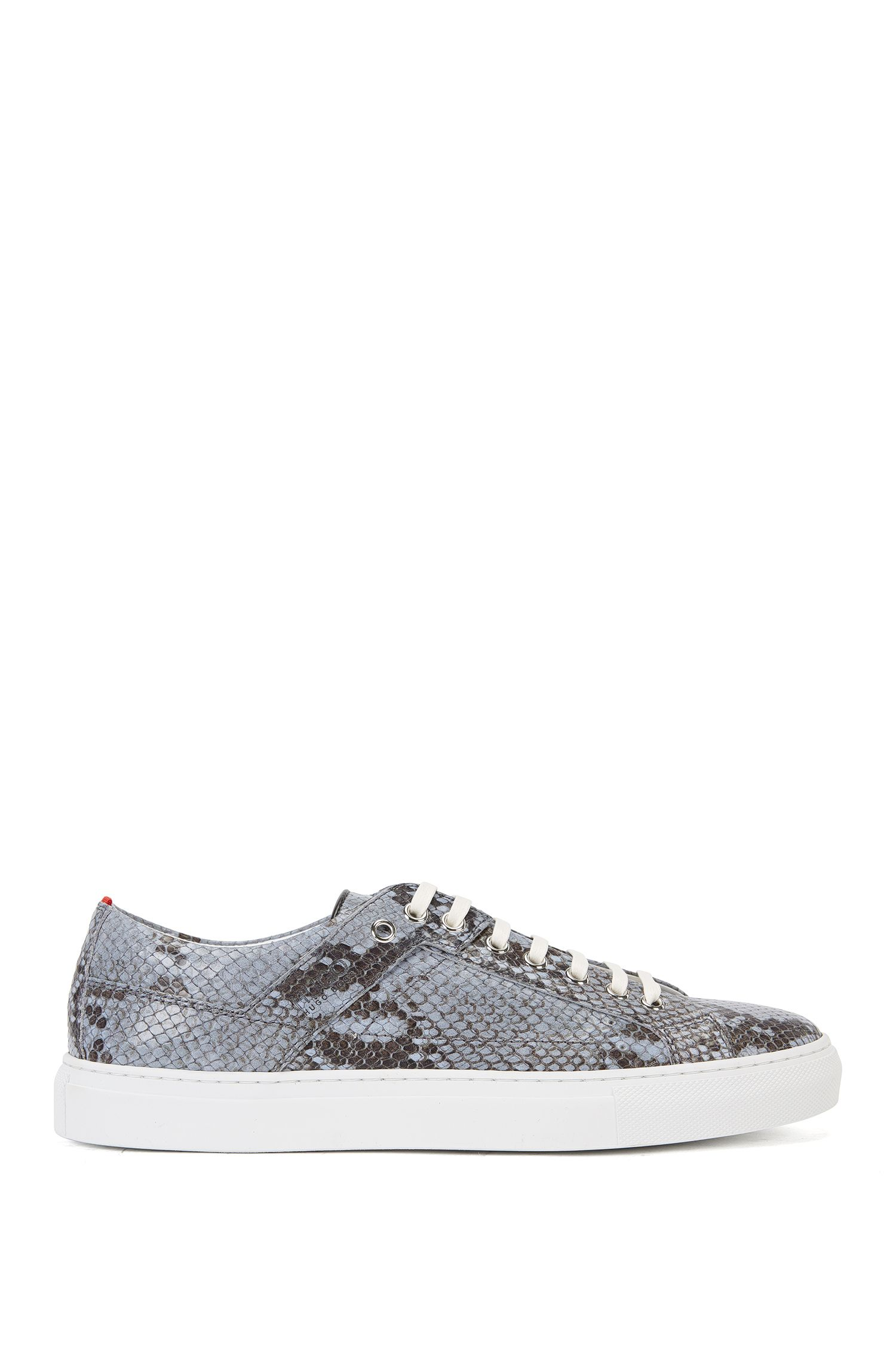 Leather trainers with python embossing: 'Corynna-Sl'