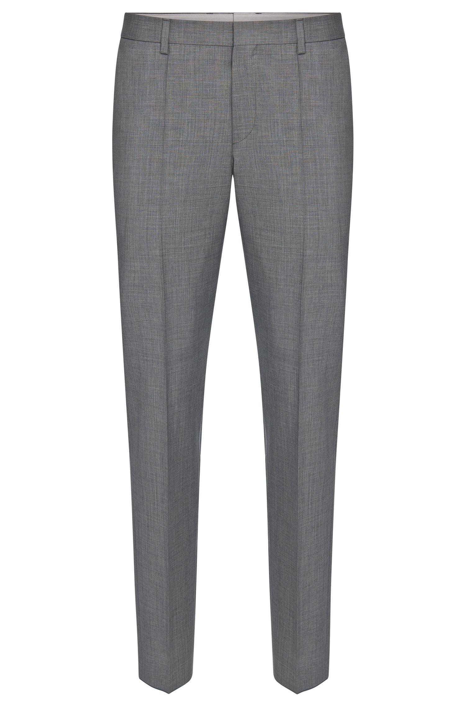 Slim-fit broek van een scheerwolmix met kasjmier: 'Genesis2'