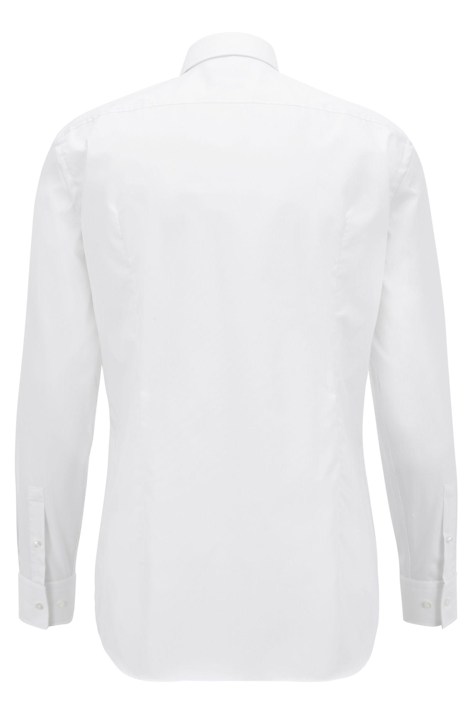 Unifarbenes Slim-Fit Hemd aus Baumwolle: 'Jilip'
