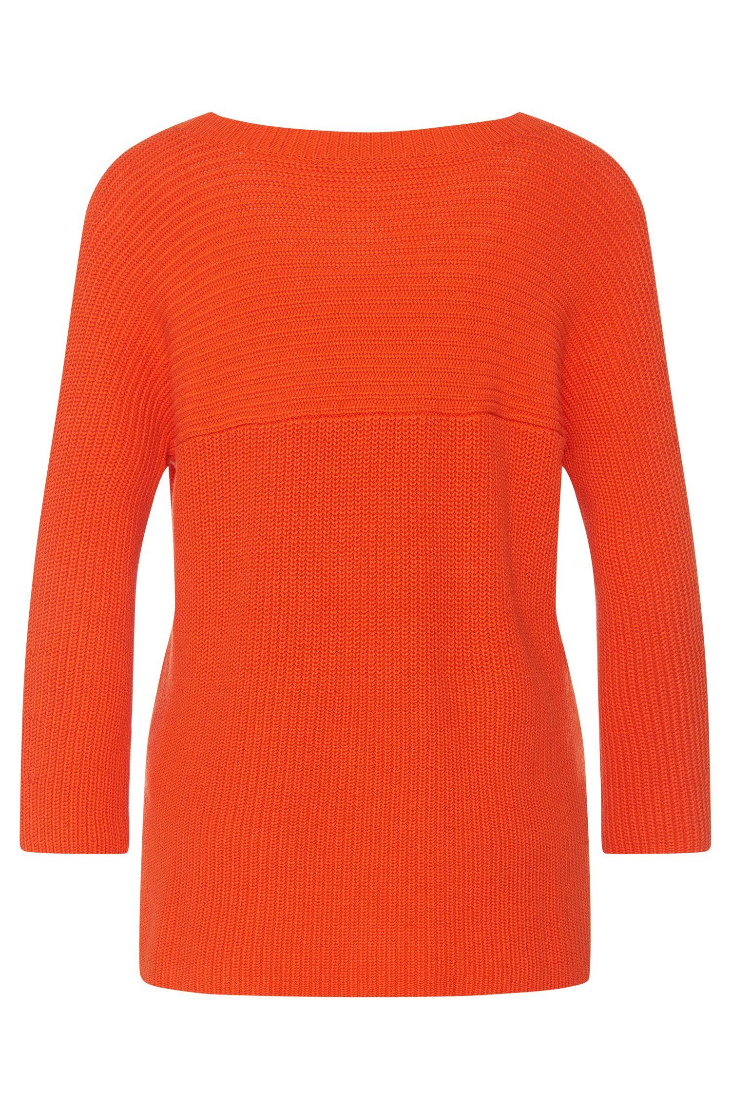 Unifarbener Pullover aus Baumwoll-Mix mit Viskose und Seide: 'Saloma'