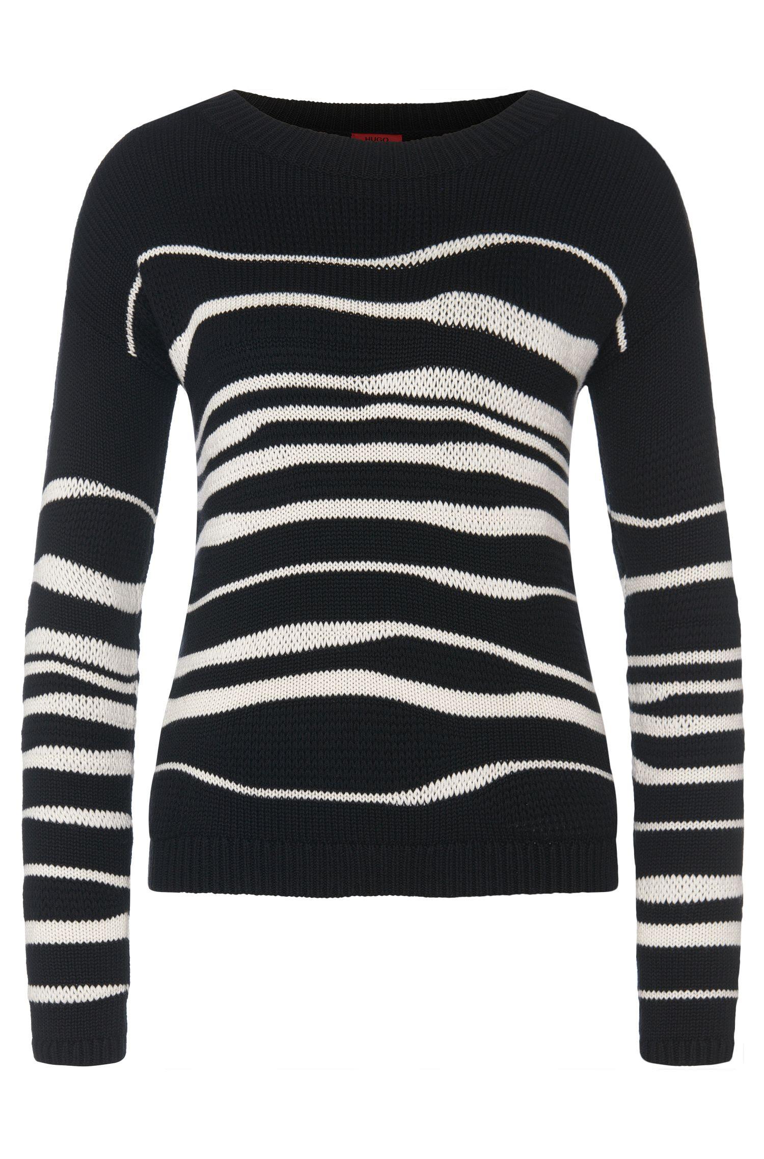 Jersey estampado en mezcla de algodón con viscosa y seda: 'Samica'