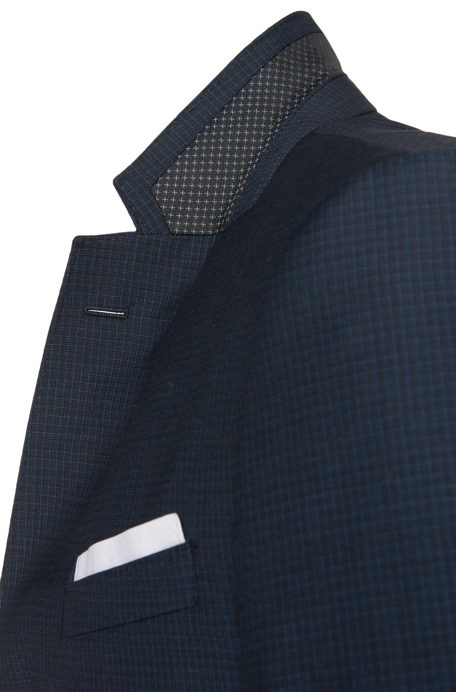 Karierter Slim-Fit Anzug aus Schurwolle: 'Hutson4/Gander1'
