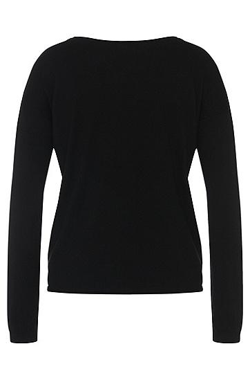 Pullover aus Baumwoll-Mix mit Seiden-Anteil: 'Smilaria', Schwarz