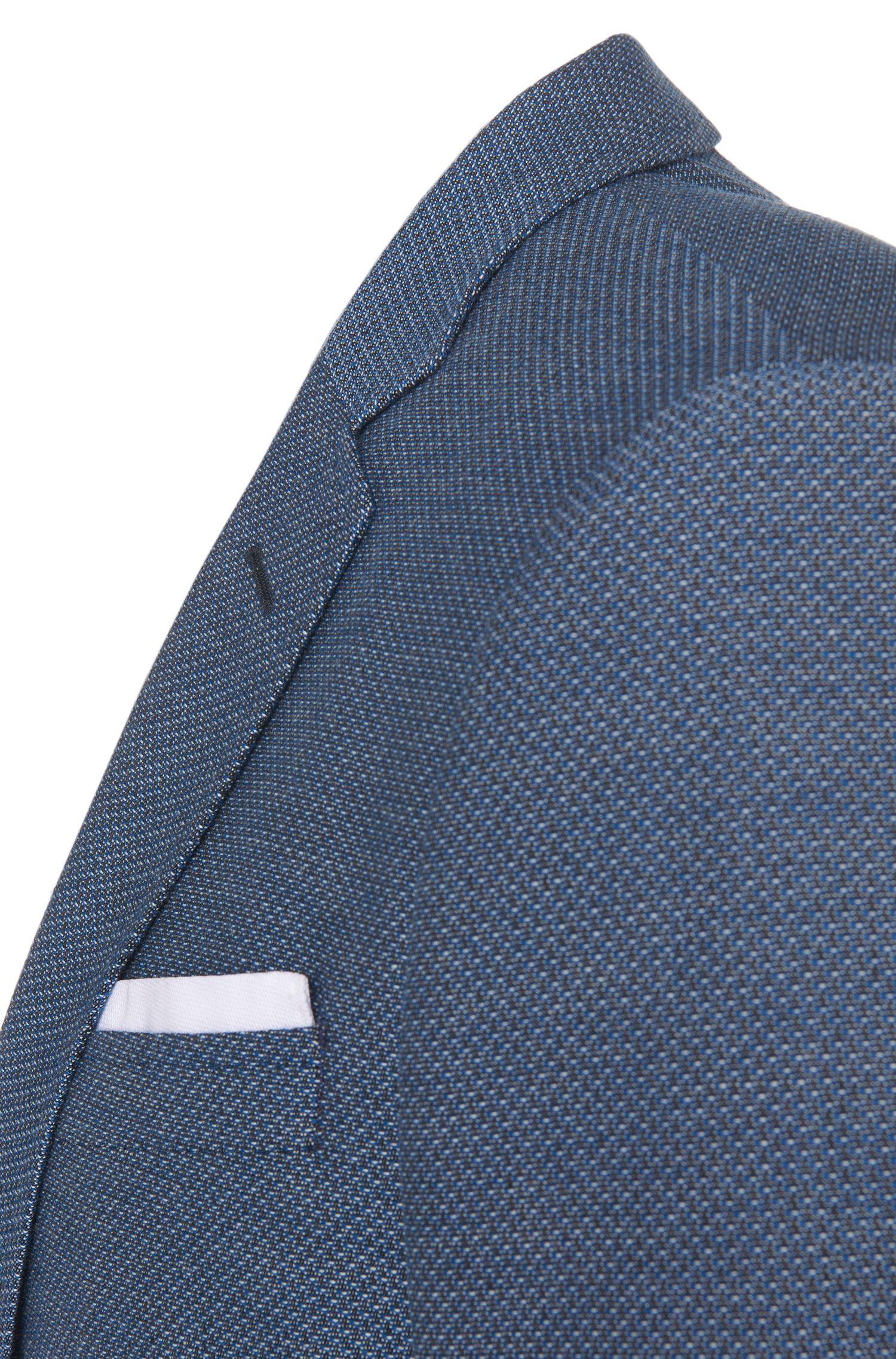 Gemustertes Slim-Fit Sakko aus Baumwoll-Mix mit integriertem Einstecktuch: 'Hutson3'