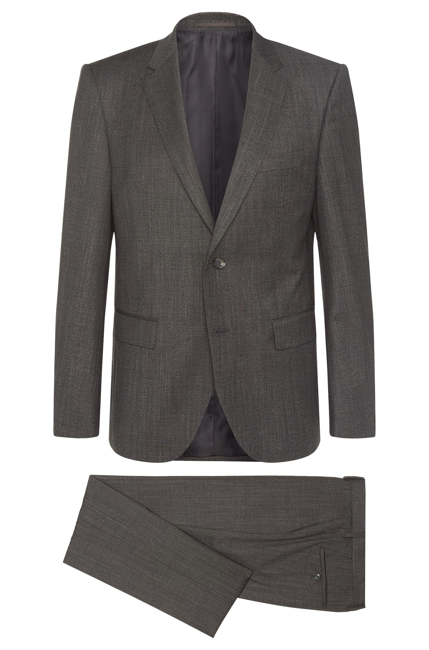 Costume Regular Fit Tailored en laine vierge : « T-Howard4/Court5 »
