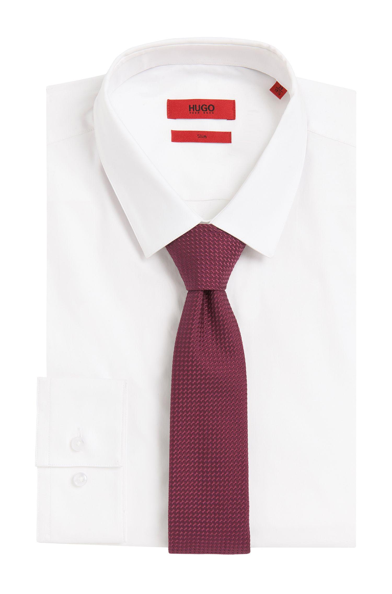 Strukturierte Krawatte aus Seide: 'Tie cm 6'
