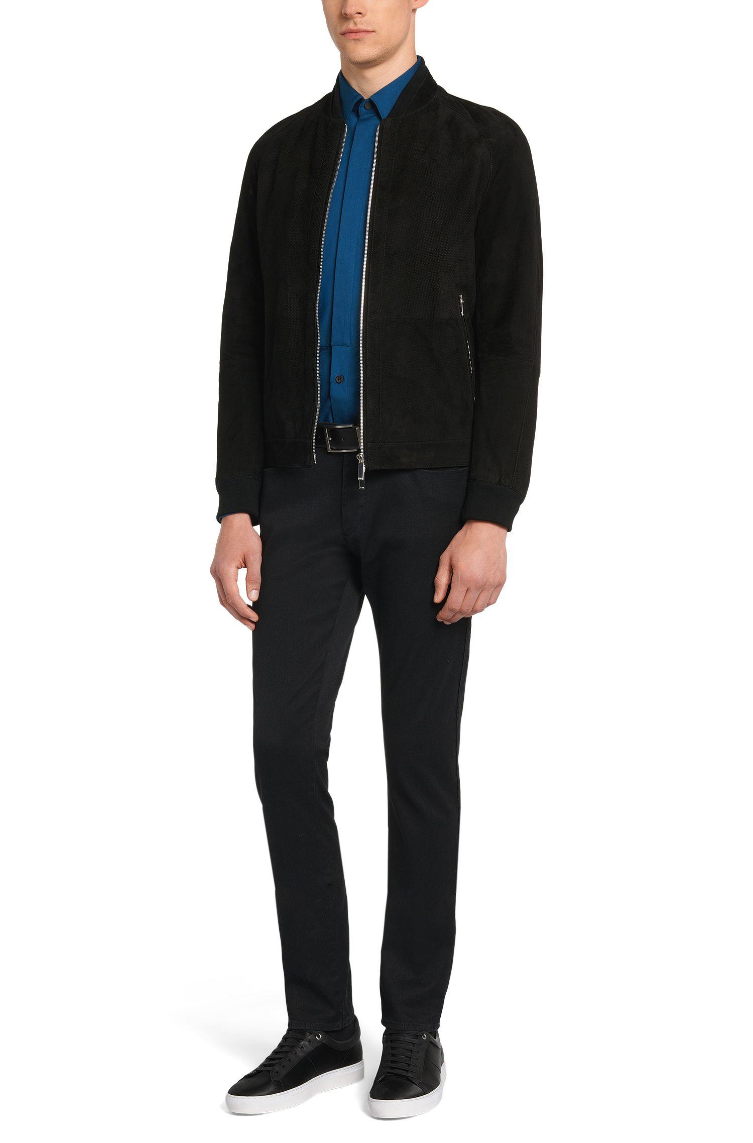 Slim-Fit Jeans aus Stretch-Baumwolle mit Kontrast-Besätzen: 'Charleston3-1'