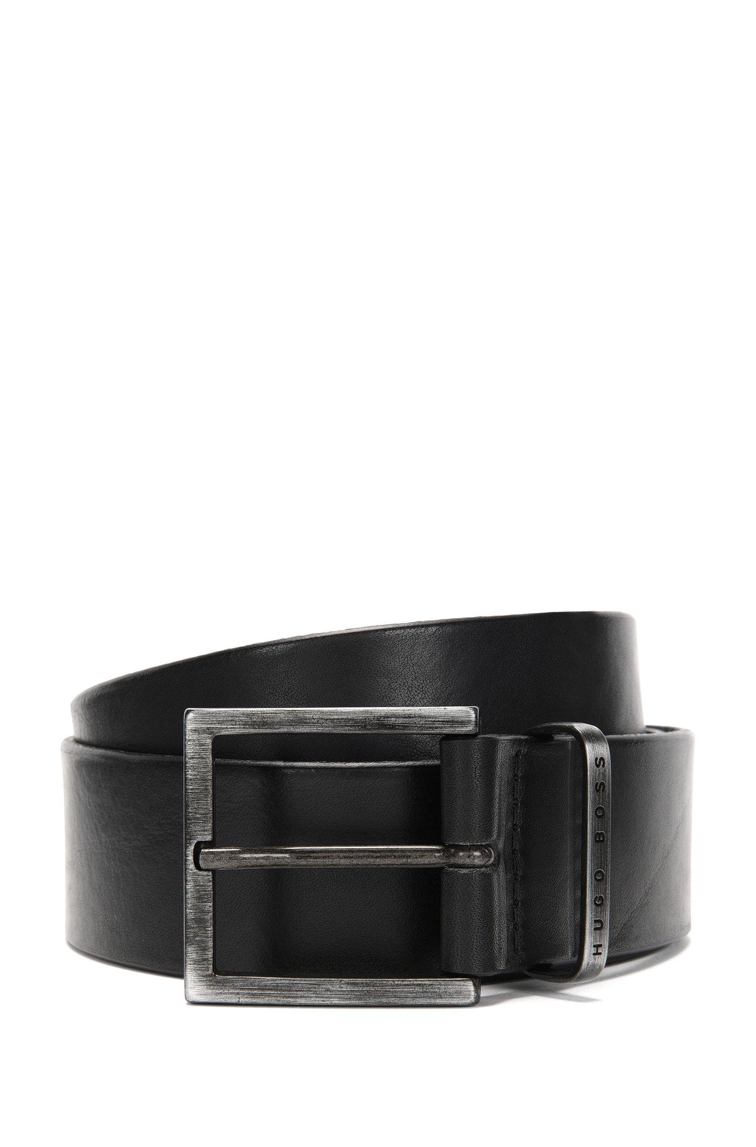 Handgefertigter Gürtel aus Leder: 'Scott_Sz40_ltpl'