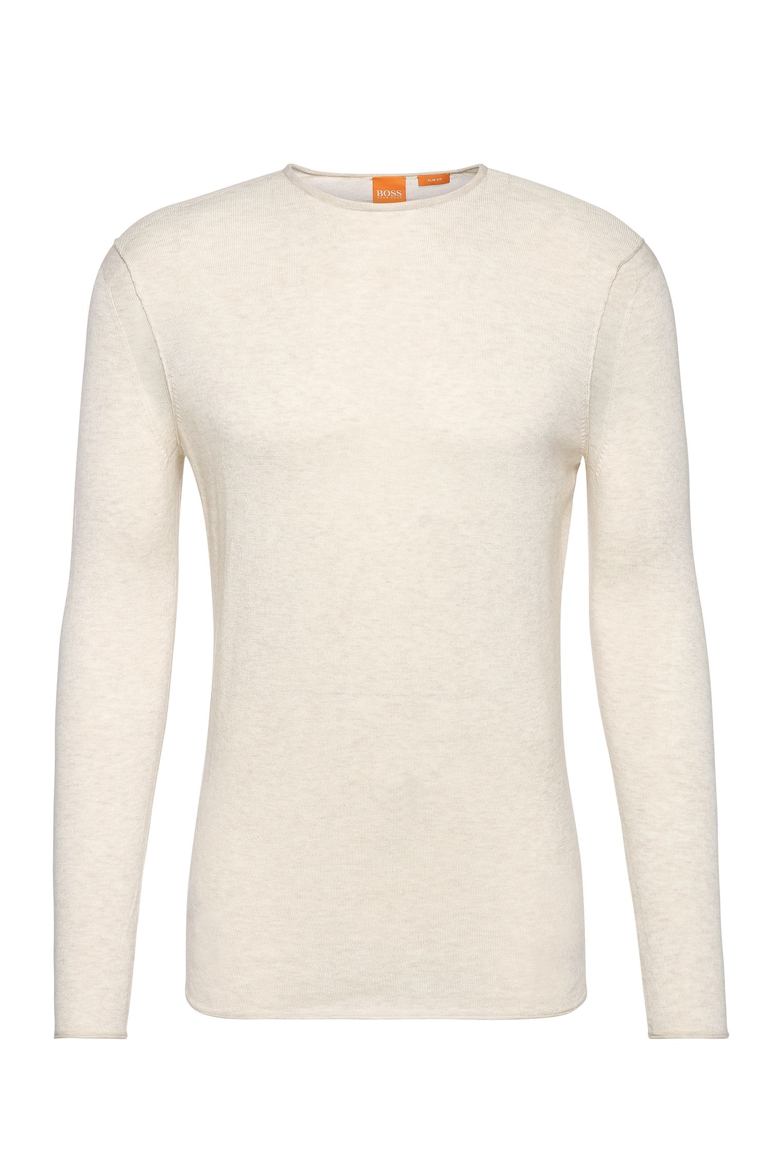 Slim-fit knit sweater in cotton: 'Kwamero'