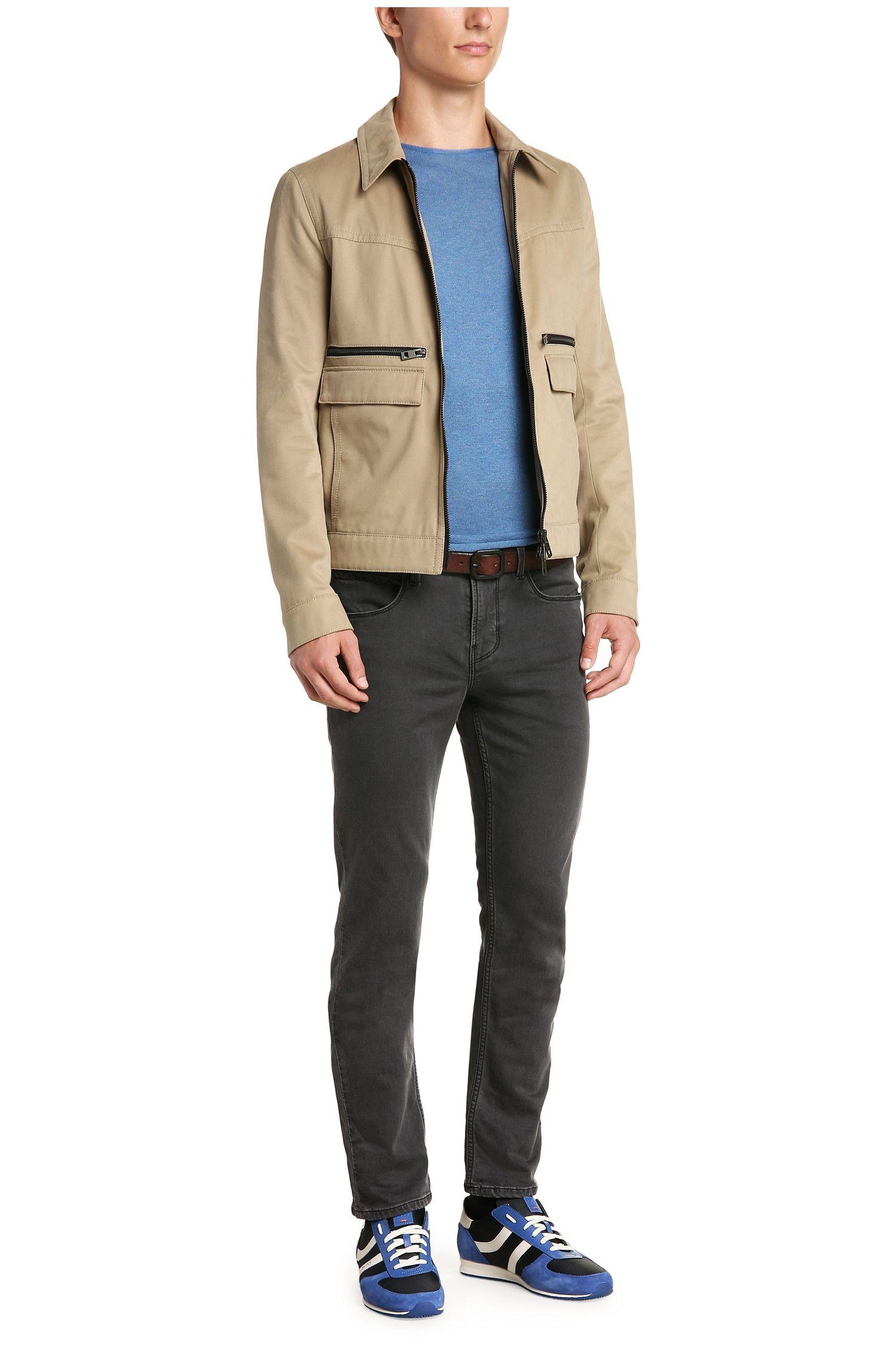 Slim-Fit Strick-Pullover aus Baumwolle: ´Kwamero`