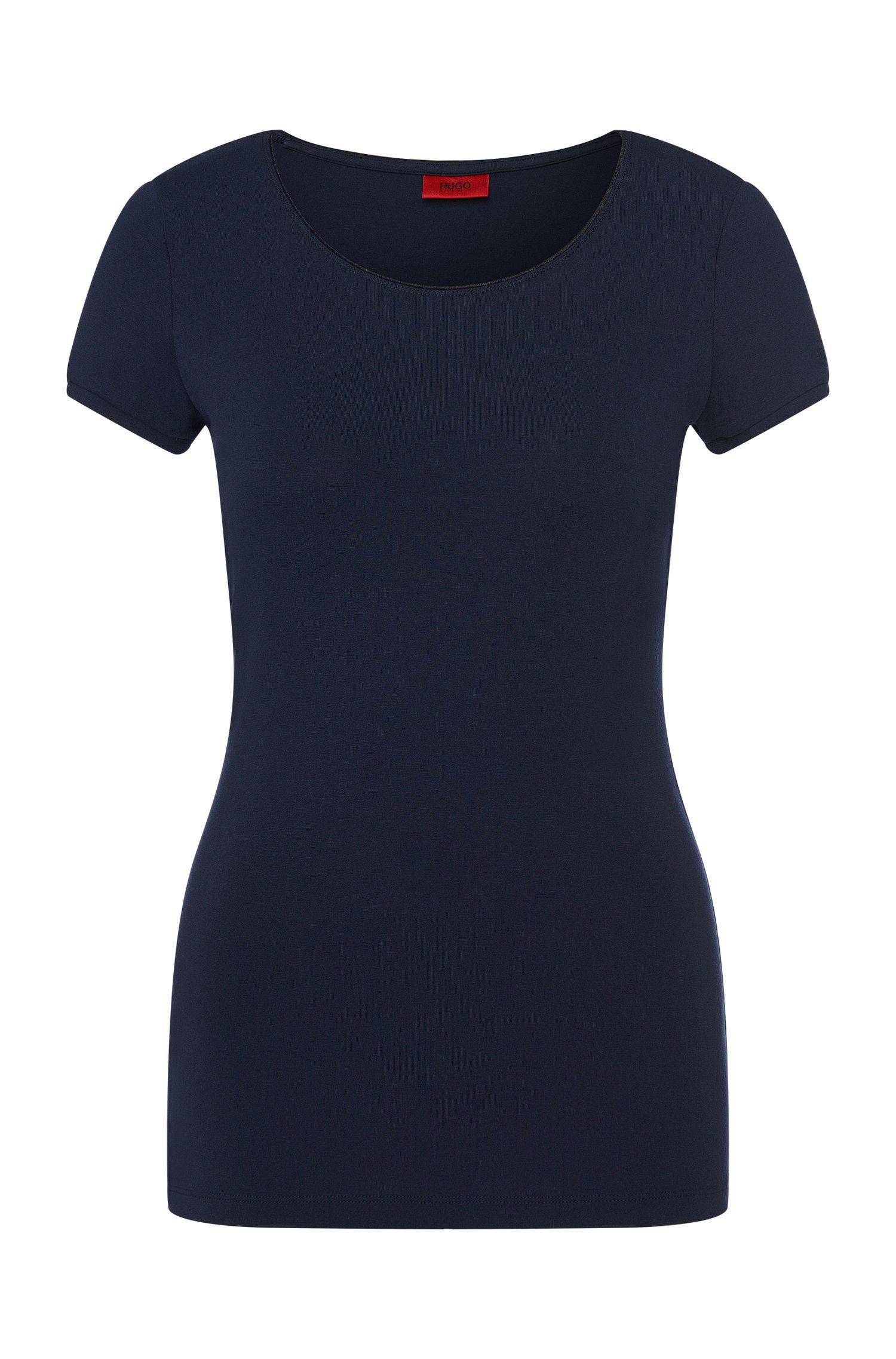 Unifarbenes T-Shirt aus Stretch-Viskose: 'Dabena'