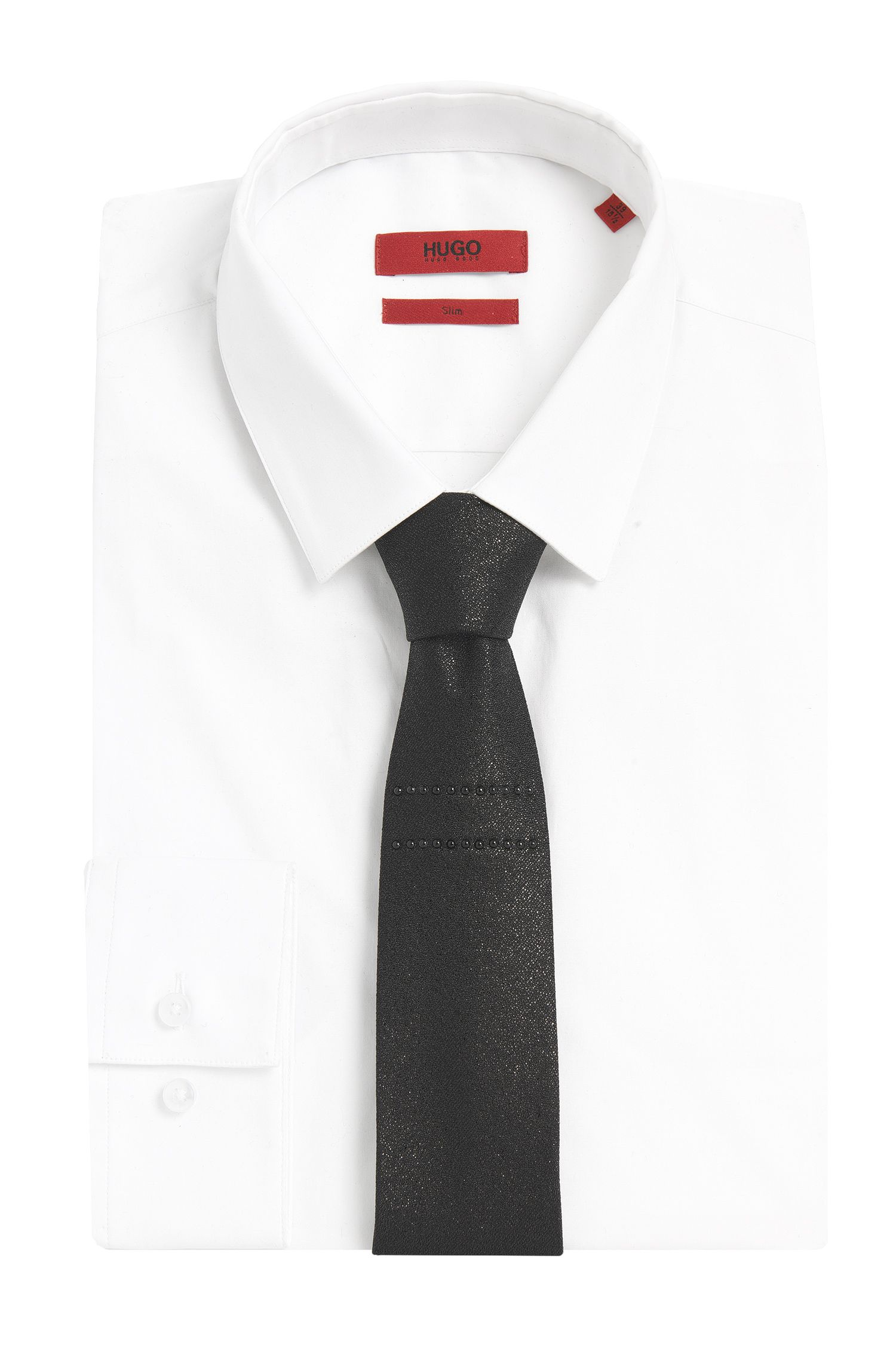 Cravate en soie mélangée avec des rivets: «Tie 6cm with studs»