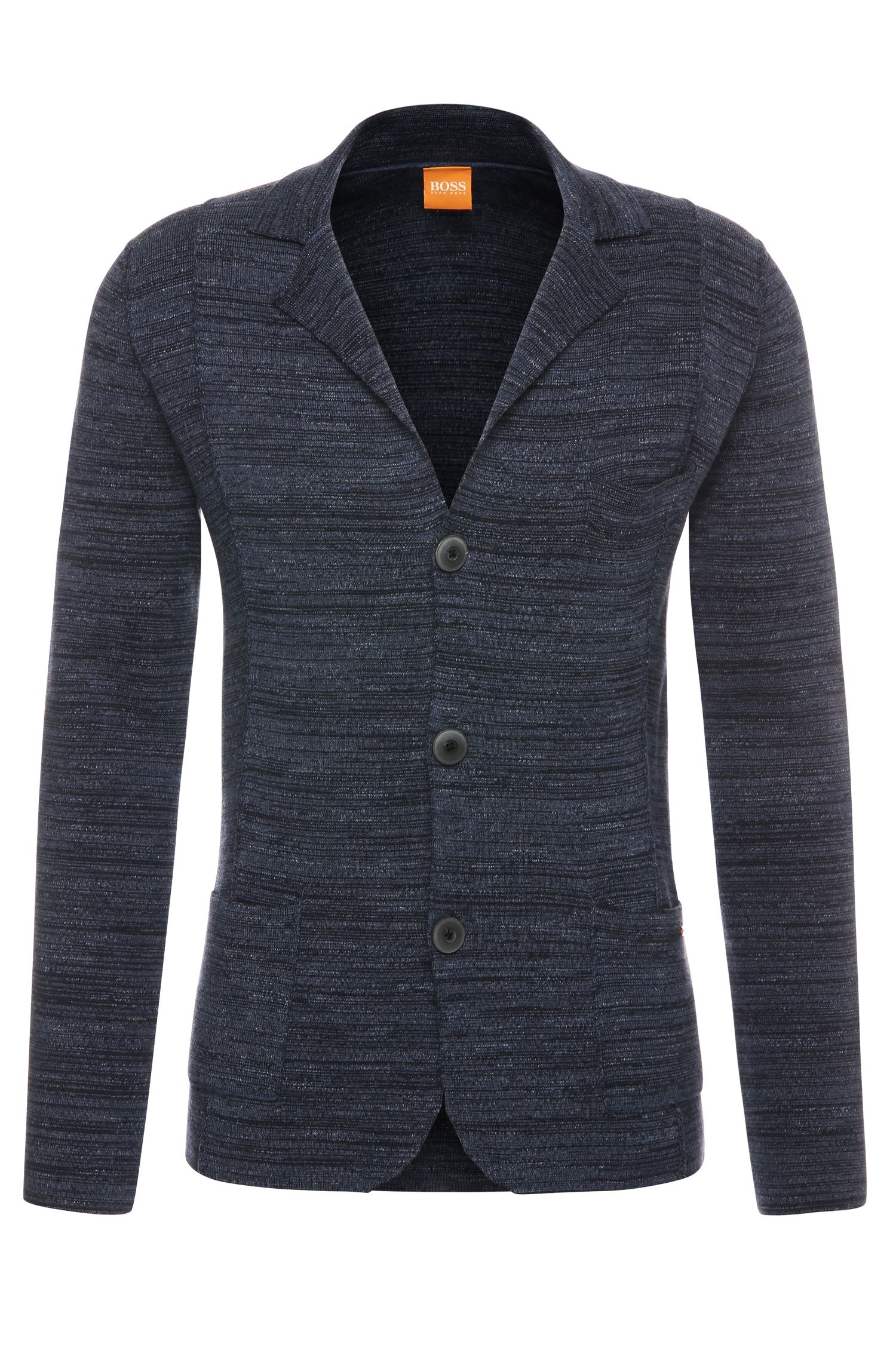 Mottled cardigan in cotton in blazer style: 'Akuyak'