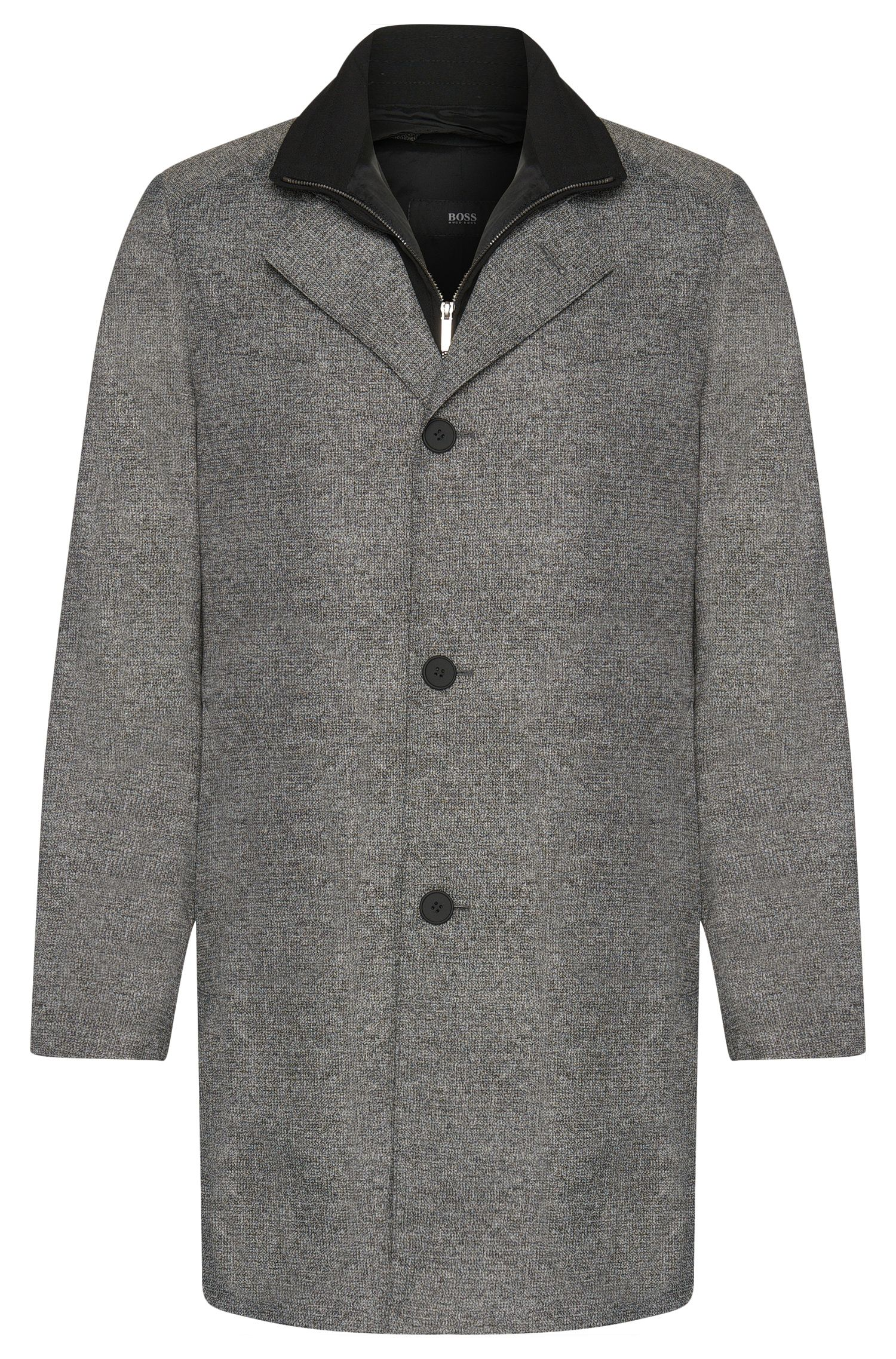 Slim-fit coat with a detachable inner section: 'Noa'