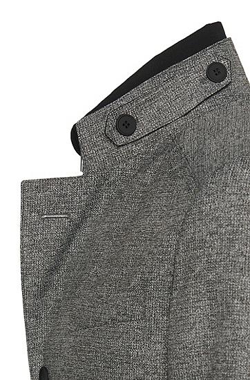 Slim-Fit Mantel mit heraustrennbarem Innenteil: 'Noa', Grau