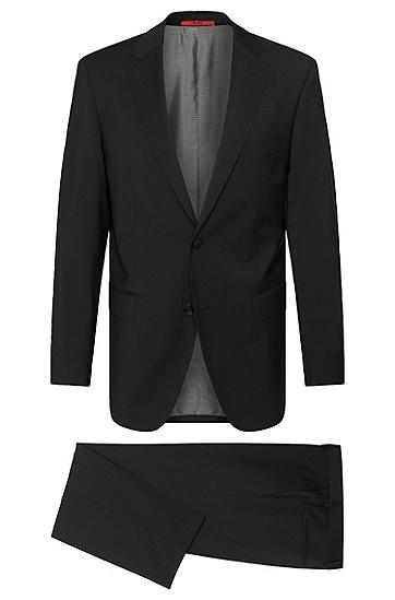 Regular-Fit Anzug aus Schurwolle: 'C-Pasini/C-Movie', Schwarz