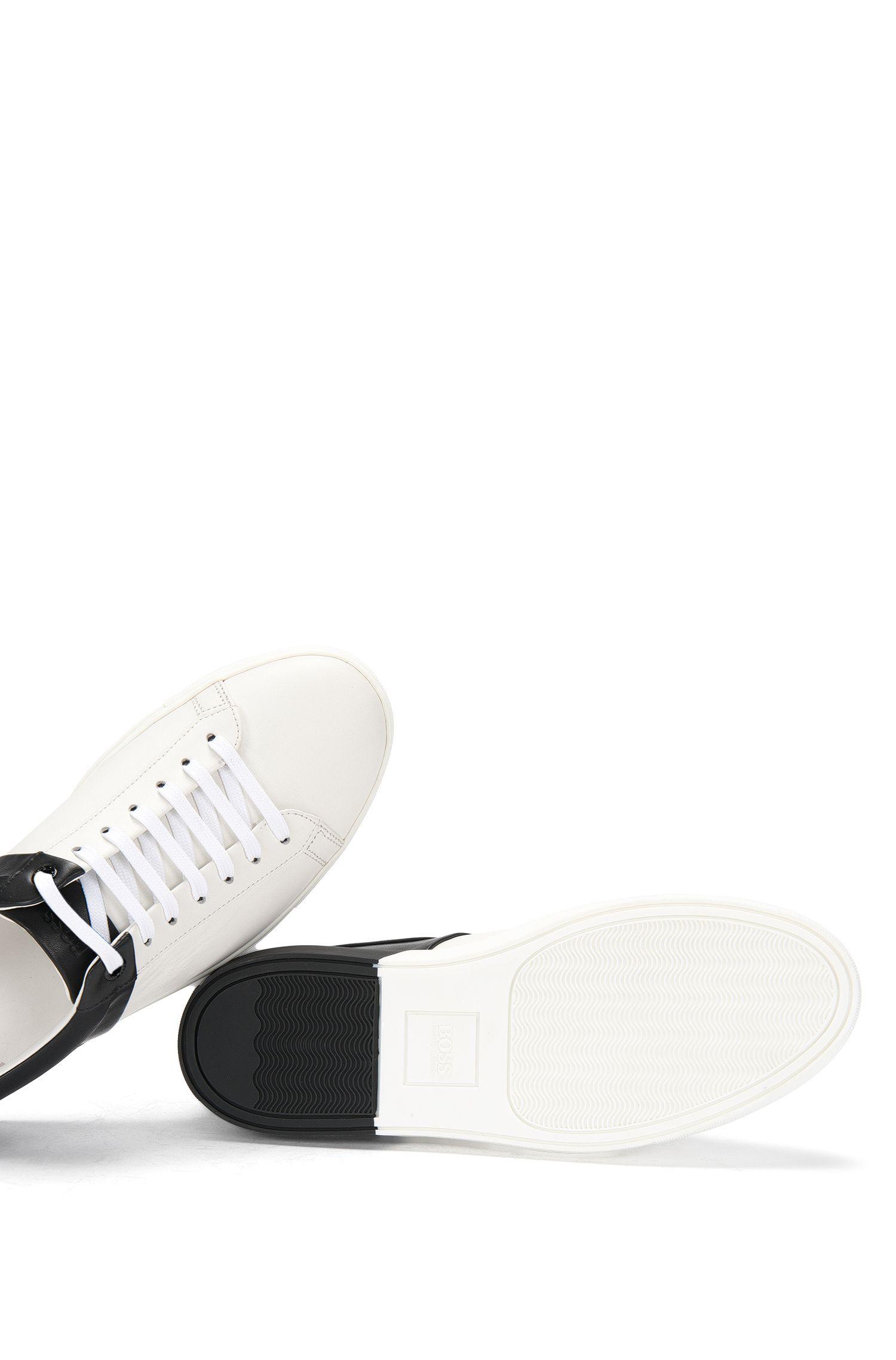 Sneakers aus Leder mit Kontrast-Design: 'Bicolor Sneaker'
