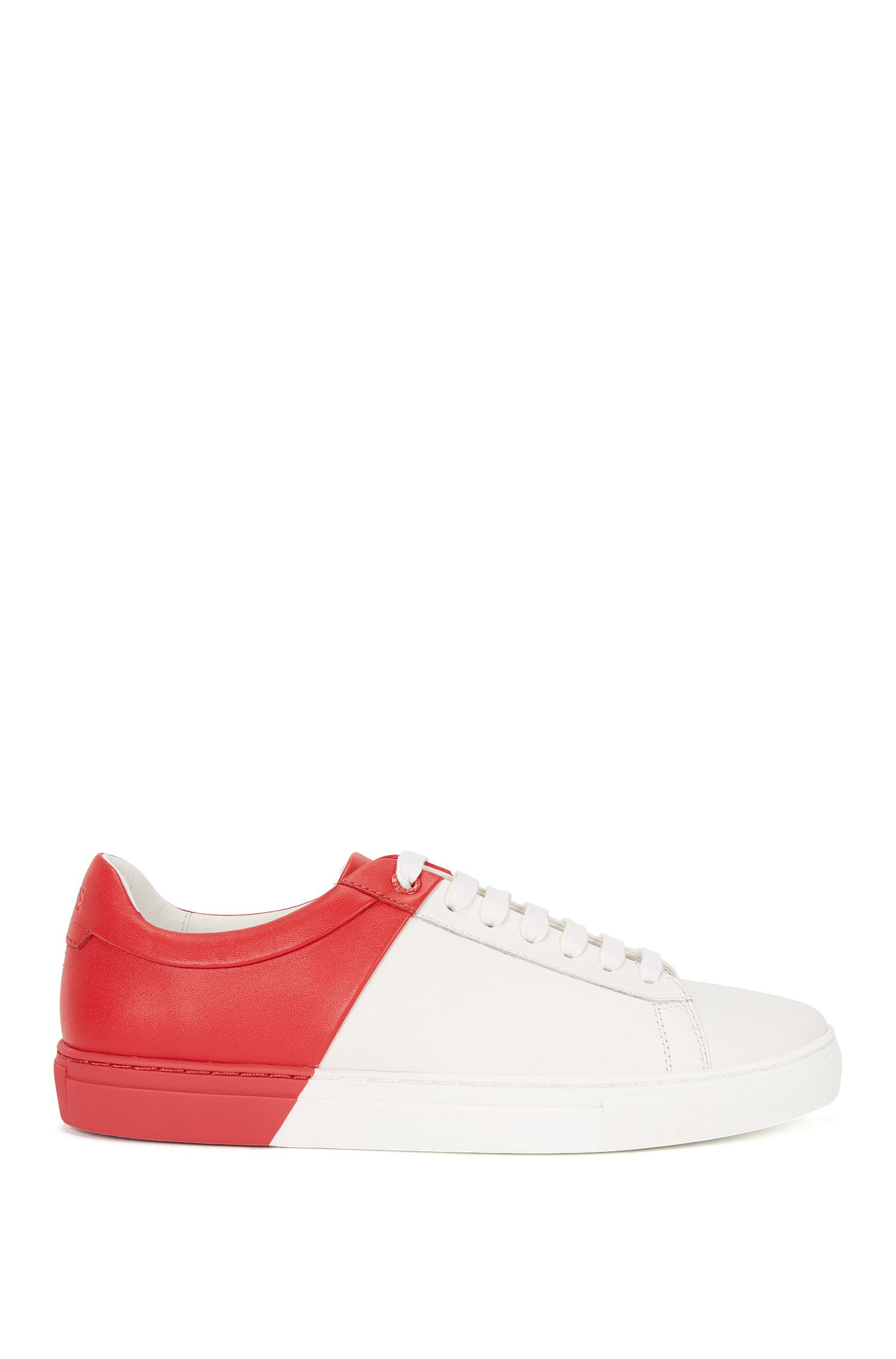 Leather trainers with contrasting design: 'Bicolor Sneaker'