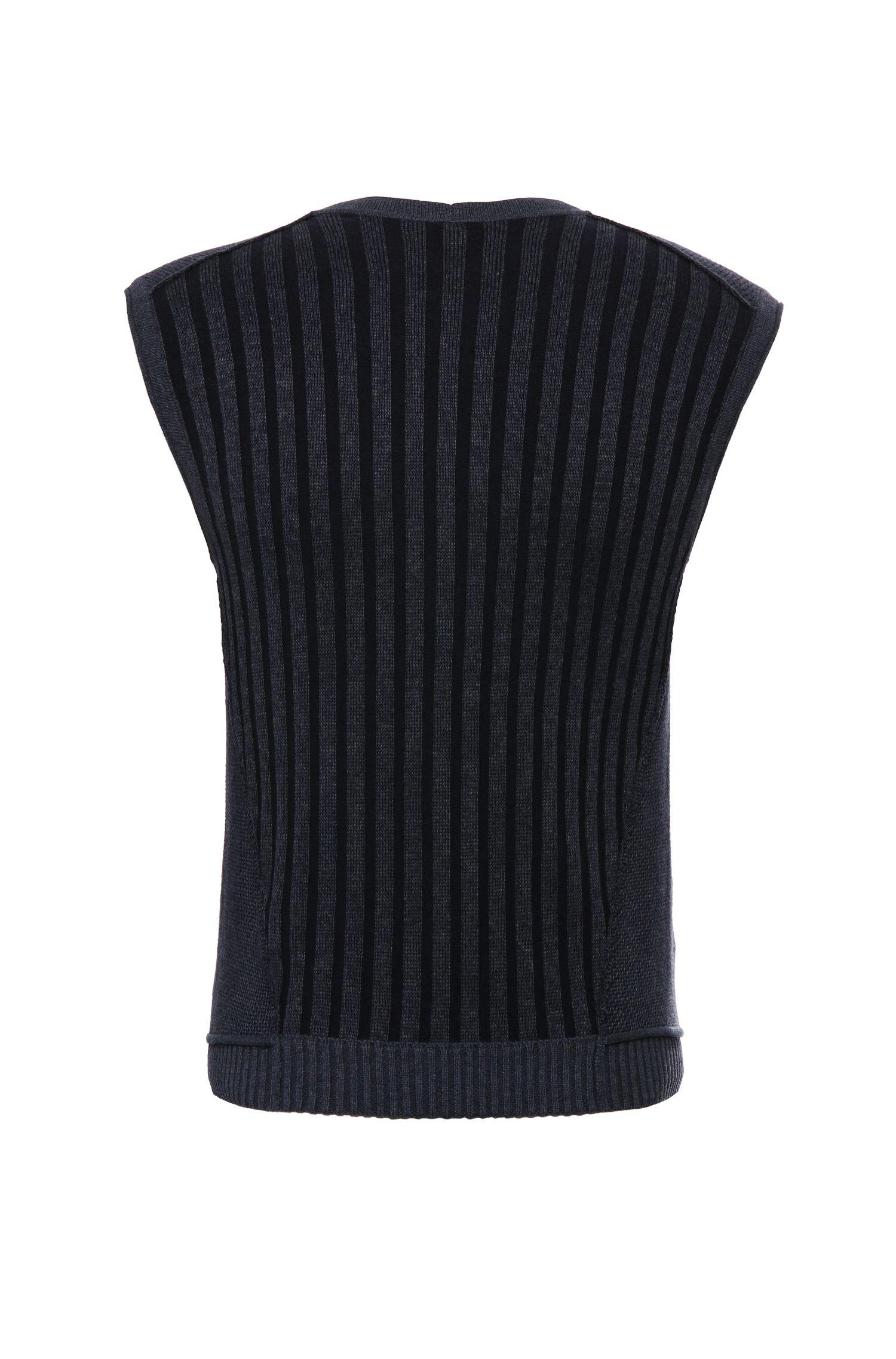 Gestrickte Slim-Fit Weste aus Baumwolle: ´Kralito`