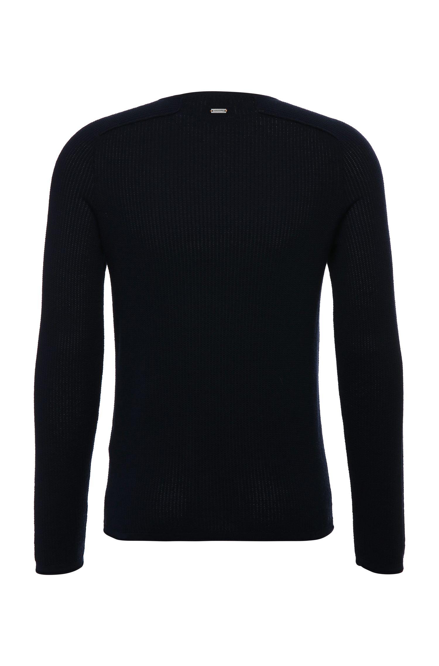 Gebreide slim-fit trui van katoen: 'Kusvet'