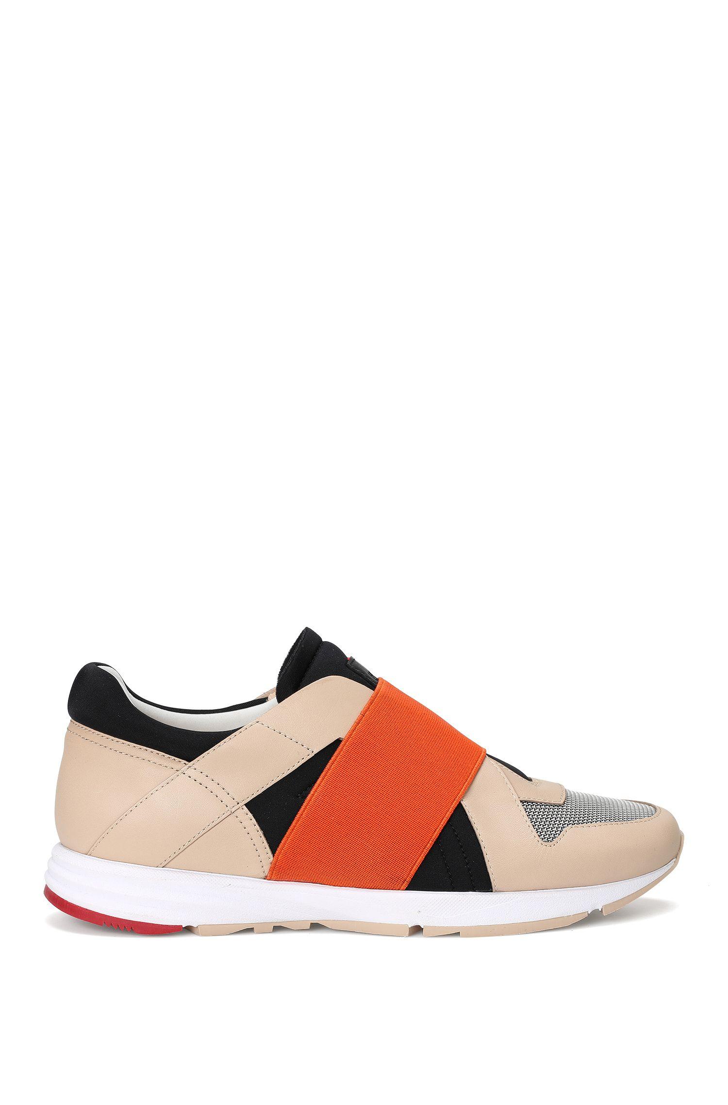 Sneakers in pelle con inserto elastico: 'Asya-E'