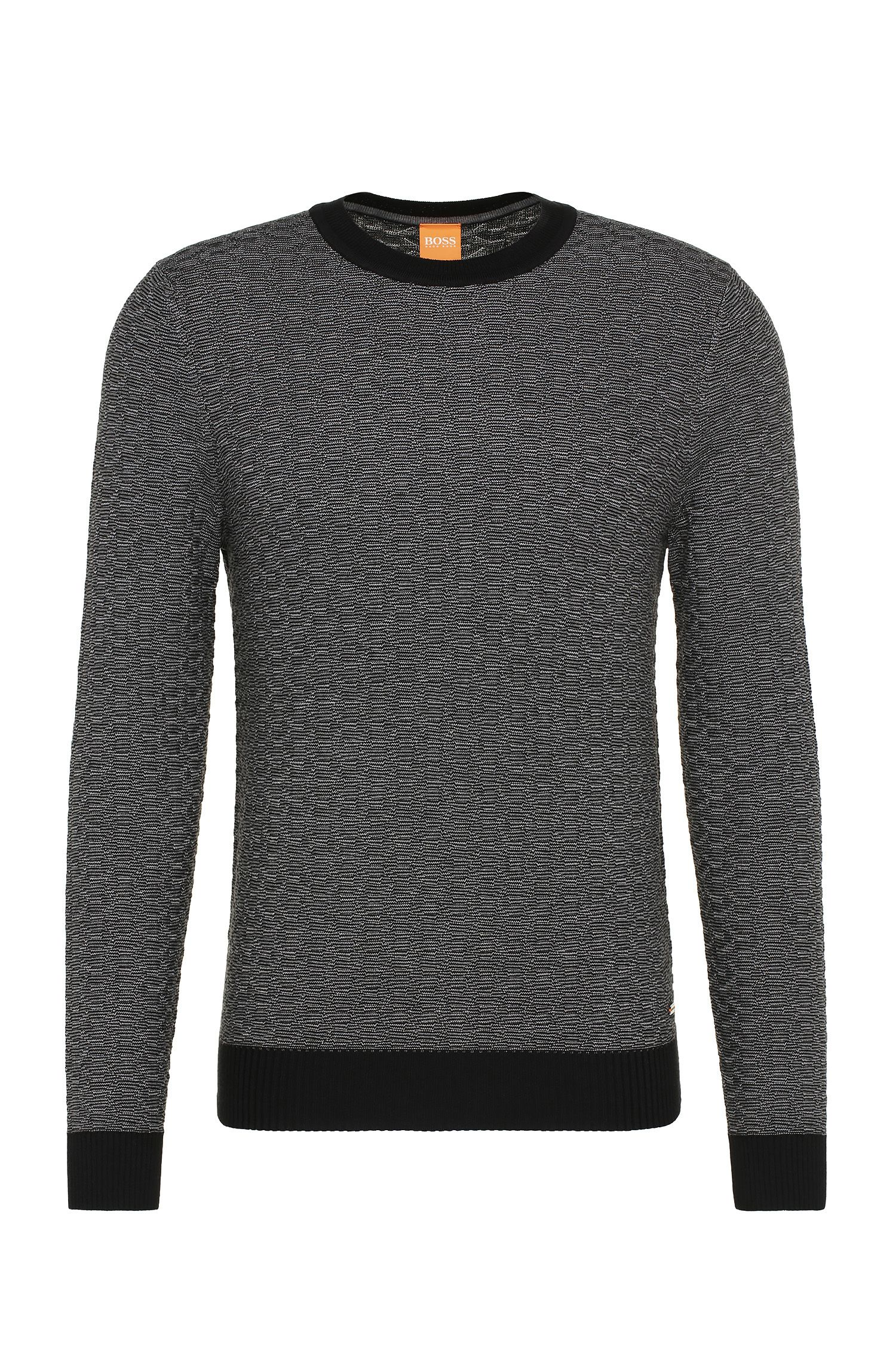 Jersey slim fit en mezcla de algodón con viscosa y seda: 'Kuvudo'