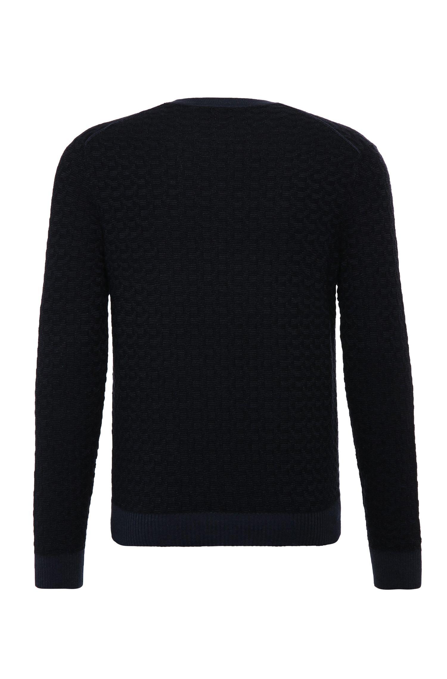 Slim-fit trui van een katoenmix met viscose en zijde: 'Kuvudo'