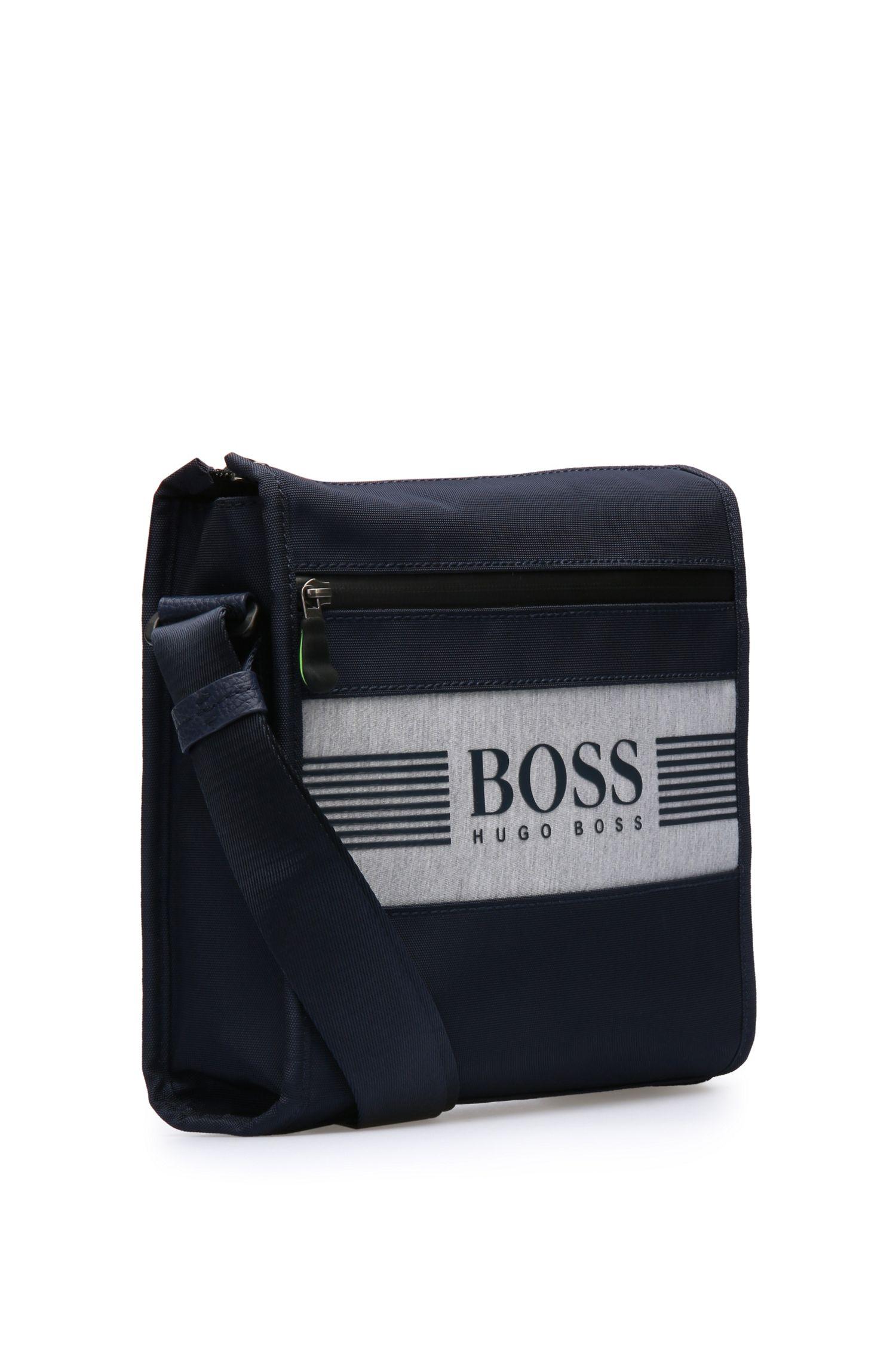 Petit sac en bandoulière en mélange de matières au design logo: «Pixel JB zip env»
