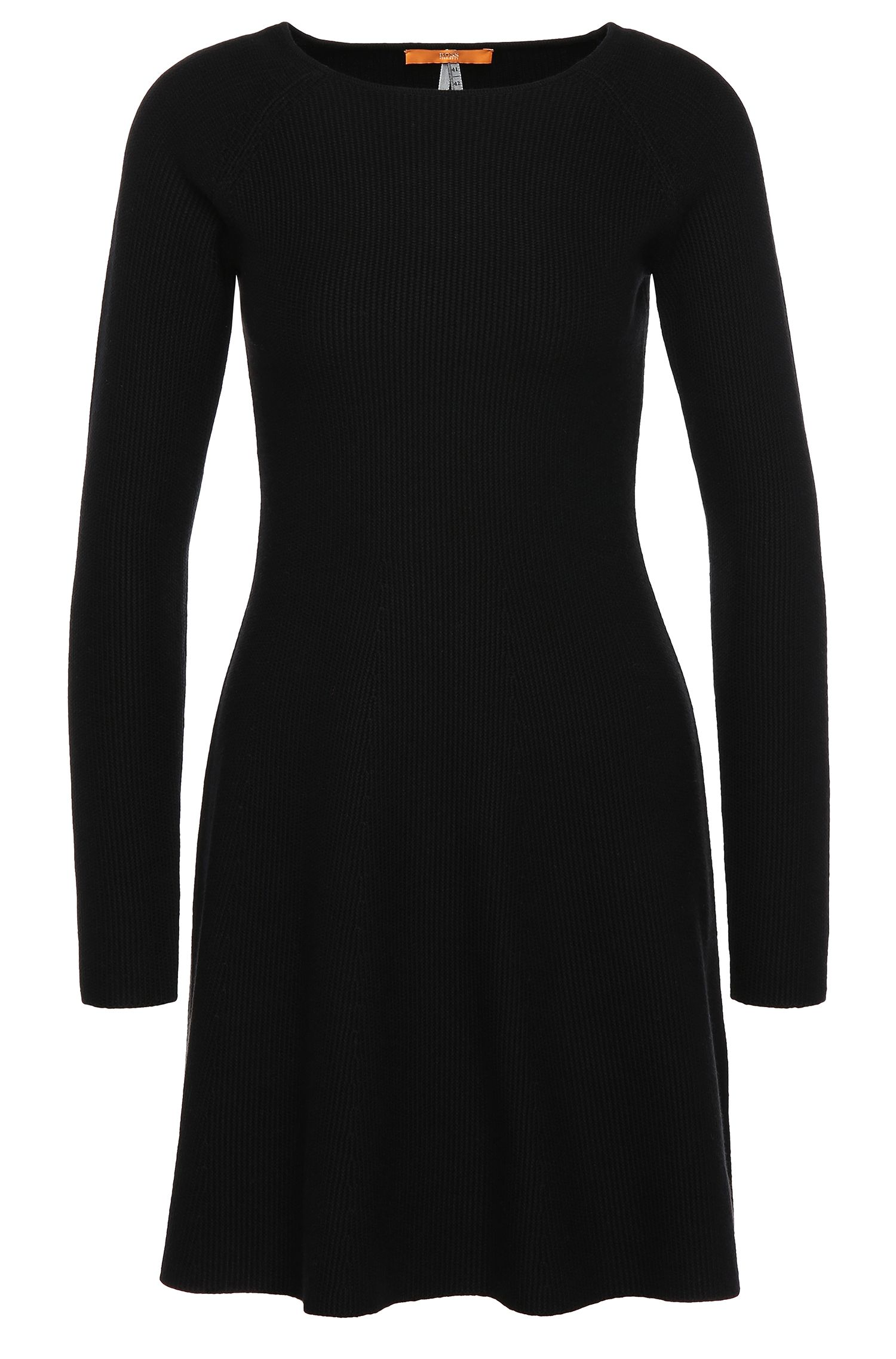 Regular-fit knit dress in cotton blend with viscose and silk: 'Iesibell'